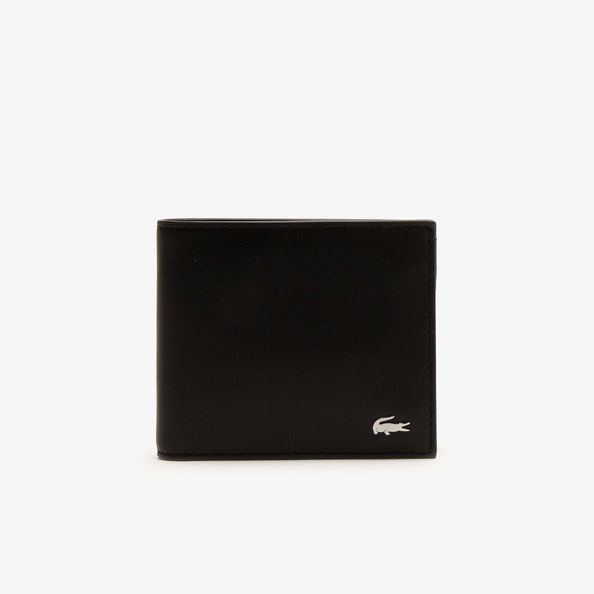 Cofanetto portafoglio e porta carte di credito Fitzgerald in pelle tinta unita