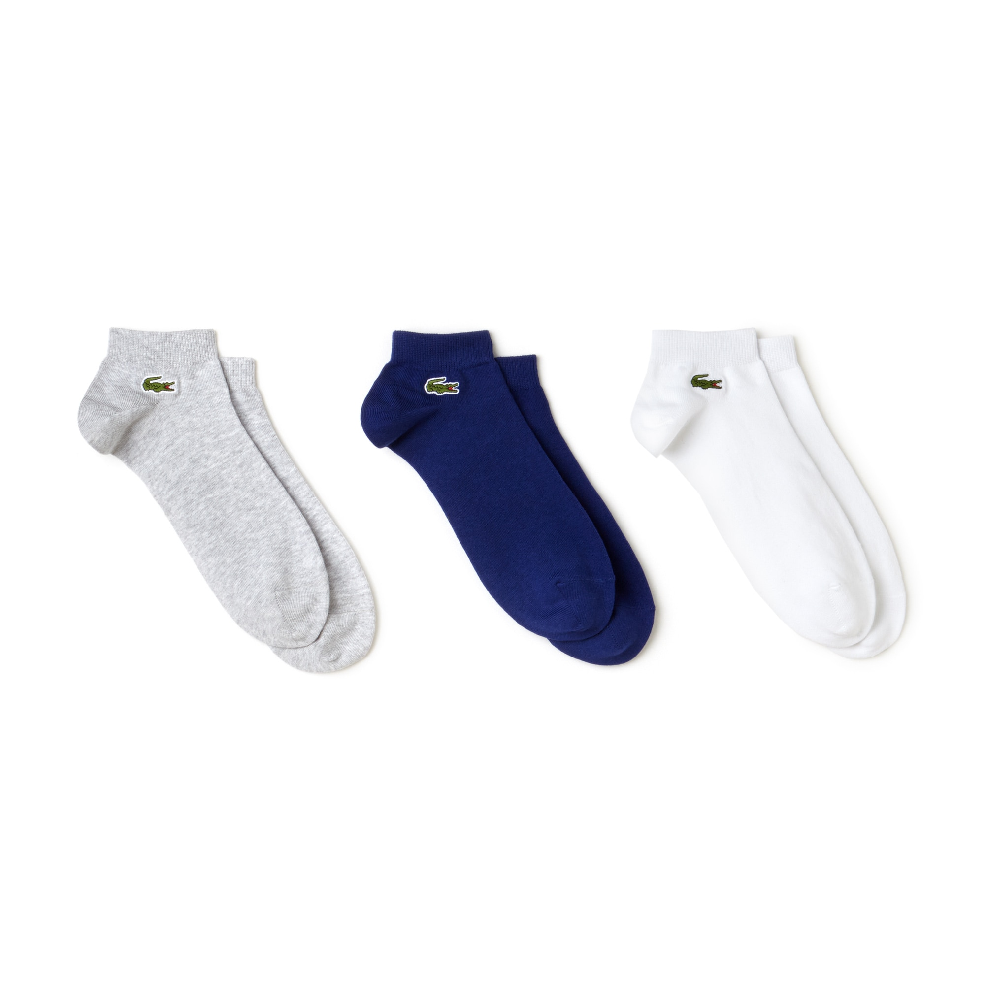Confezione da tre paia di calze Lacoste Tennis basse in jersey in tinta unita