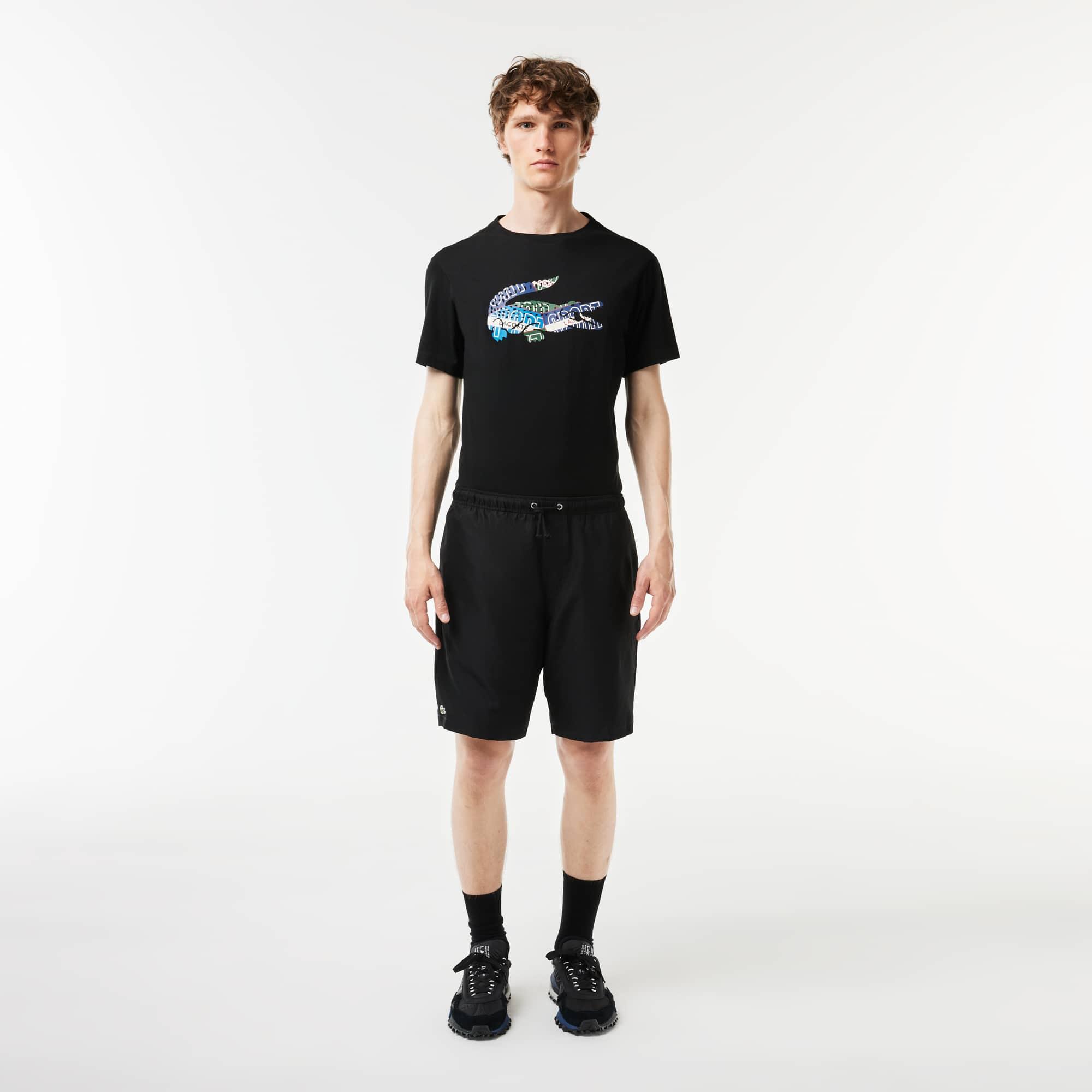 Shorts da tennis Lacoste Tennis in taffettà tessuto a losanghe in tinta unita