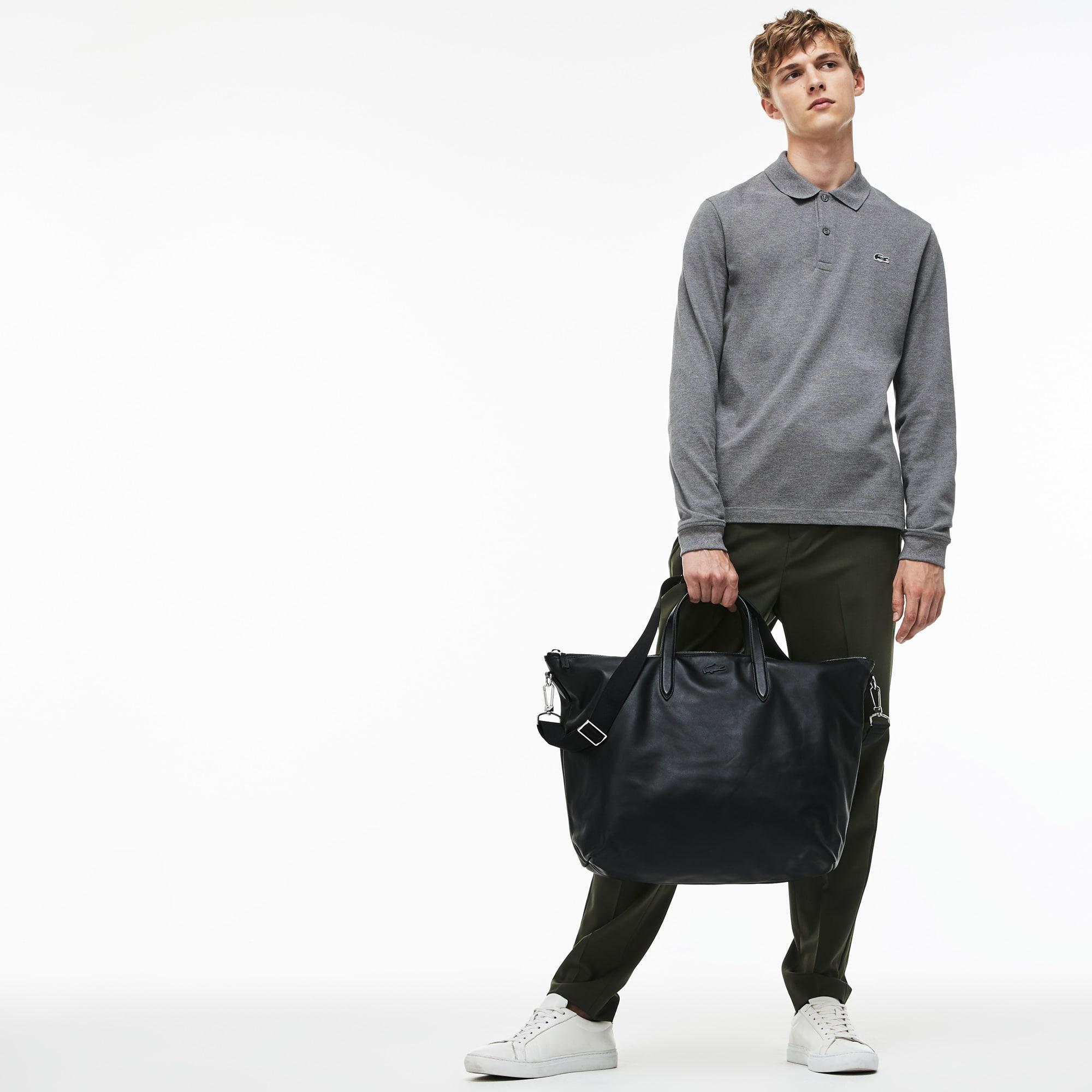 Shopping bag con cerniera in pelle ampia L.12.12 Business da uomo