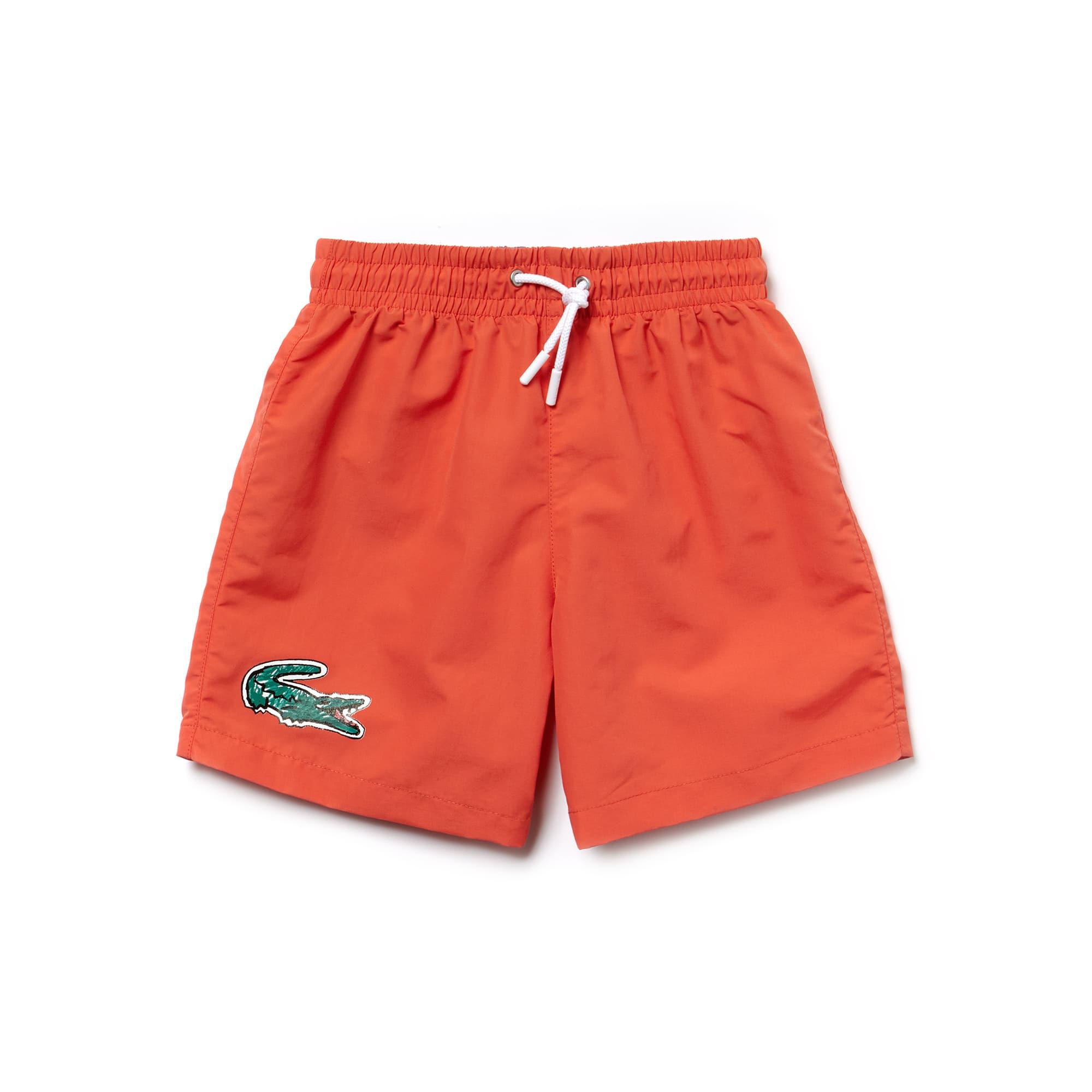 Pantaloncini da bagno Bambino in tela con coccodrillo oversize
