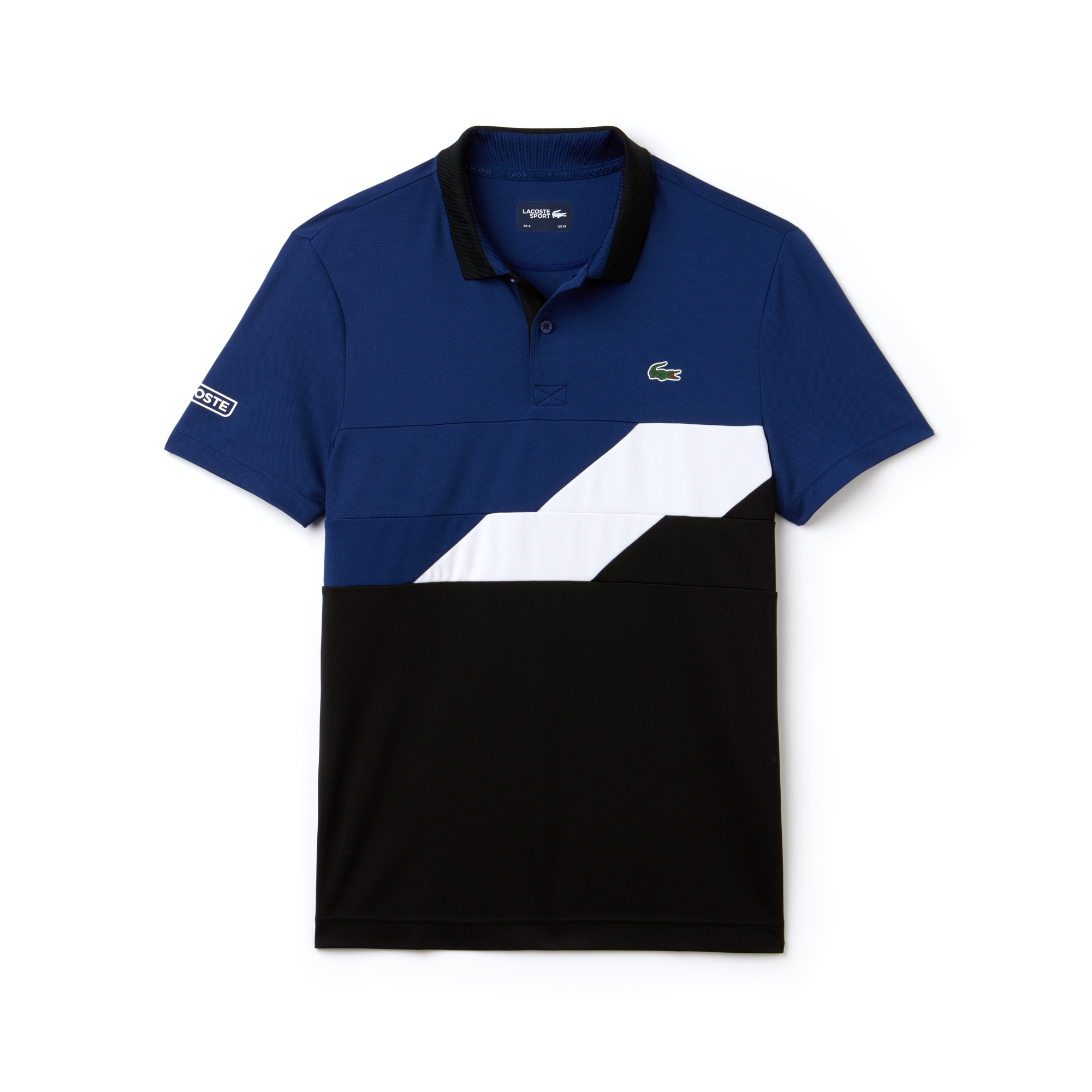 Polo Tennis Lacoste SPORT in piqué tecnico con fasce color block