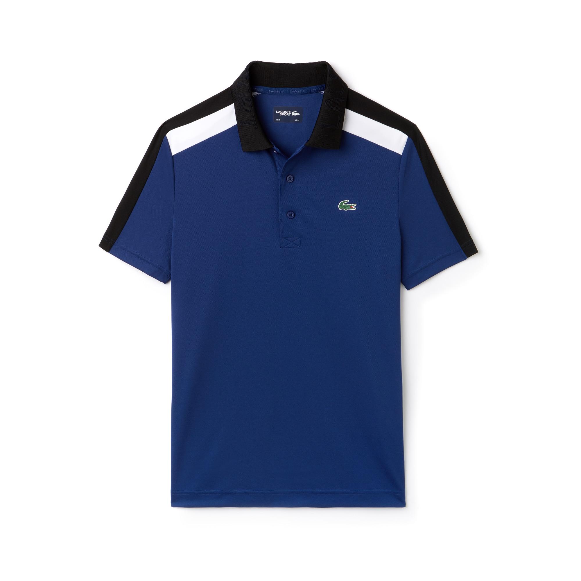 Men's Lacoste SPORT Contrast Band Technical Piqué Tennis Polo Shirt