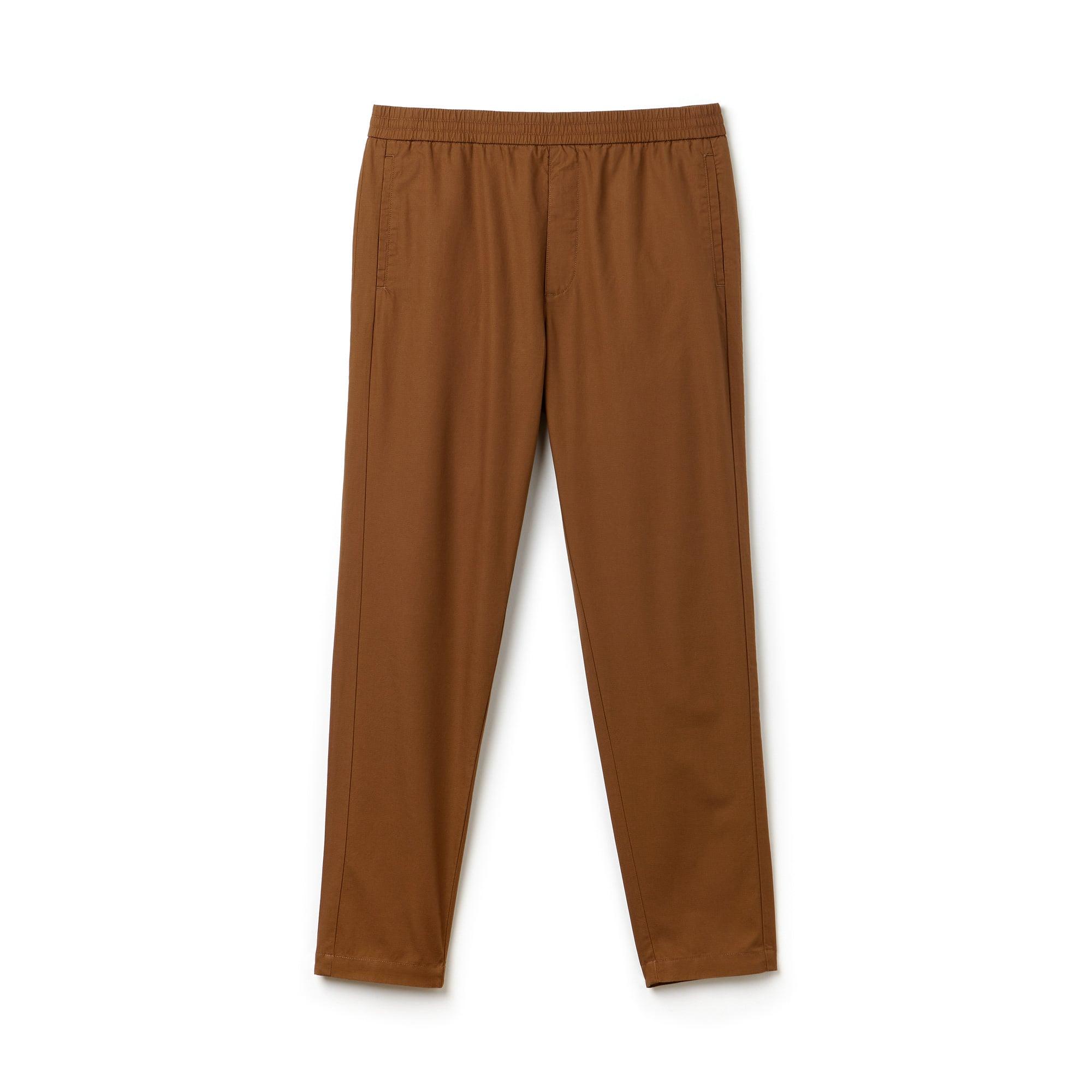Pantaloni chino in cotone tecnico tinta unita