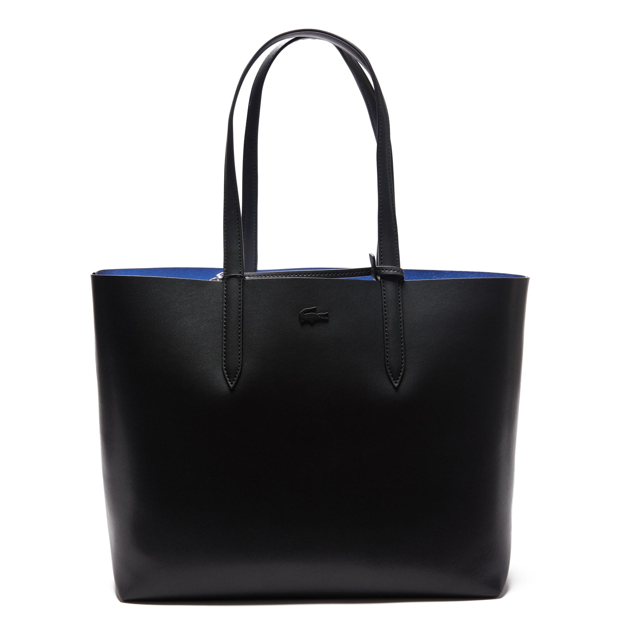 Shopping bag in pelle double face opaca e iridescente Anna da donna