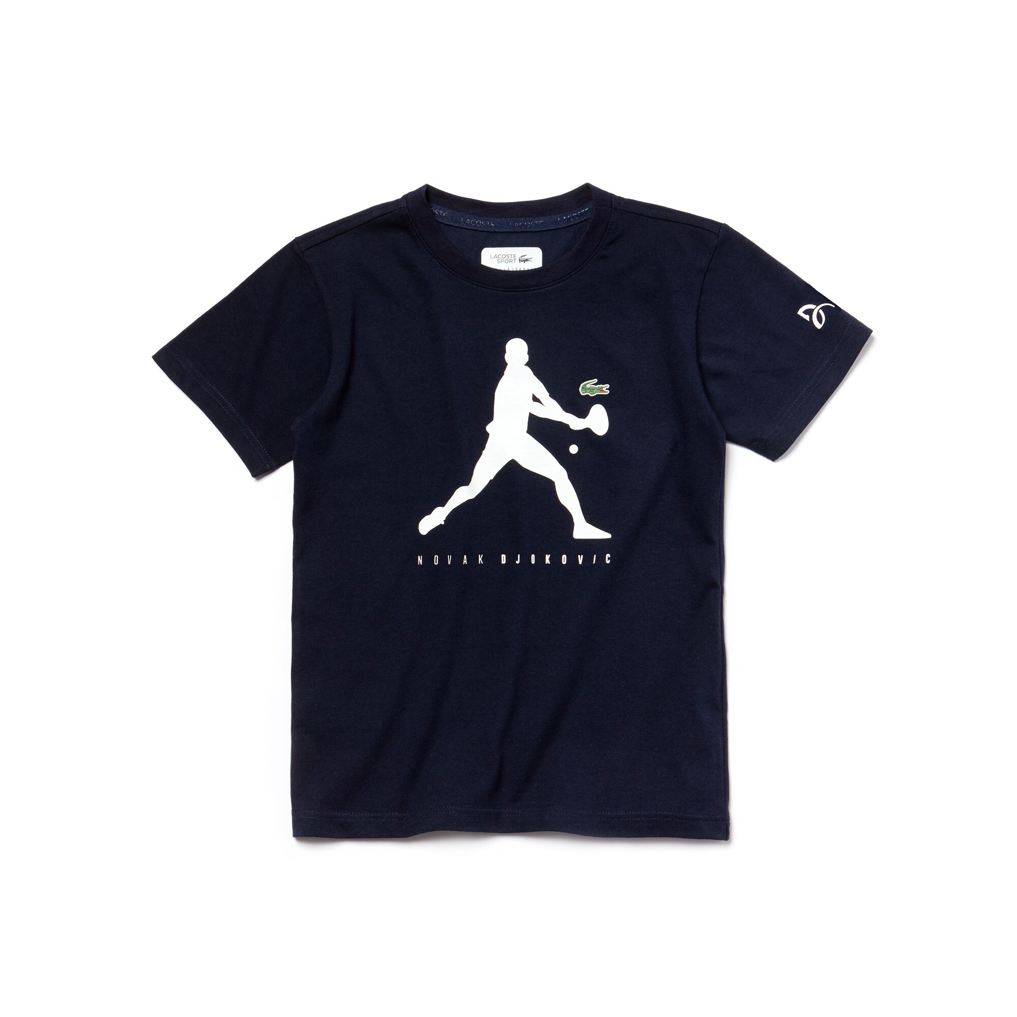 T-shirt Bambino Lacoste SPORT COLLEZIONE NOVAK DJOKOVIC SUPPORT WITH STYLE in jersey tecnico