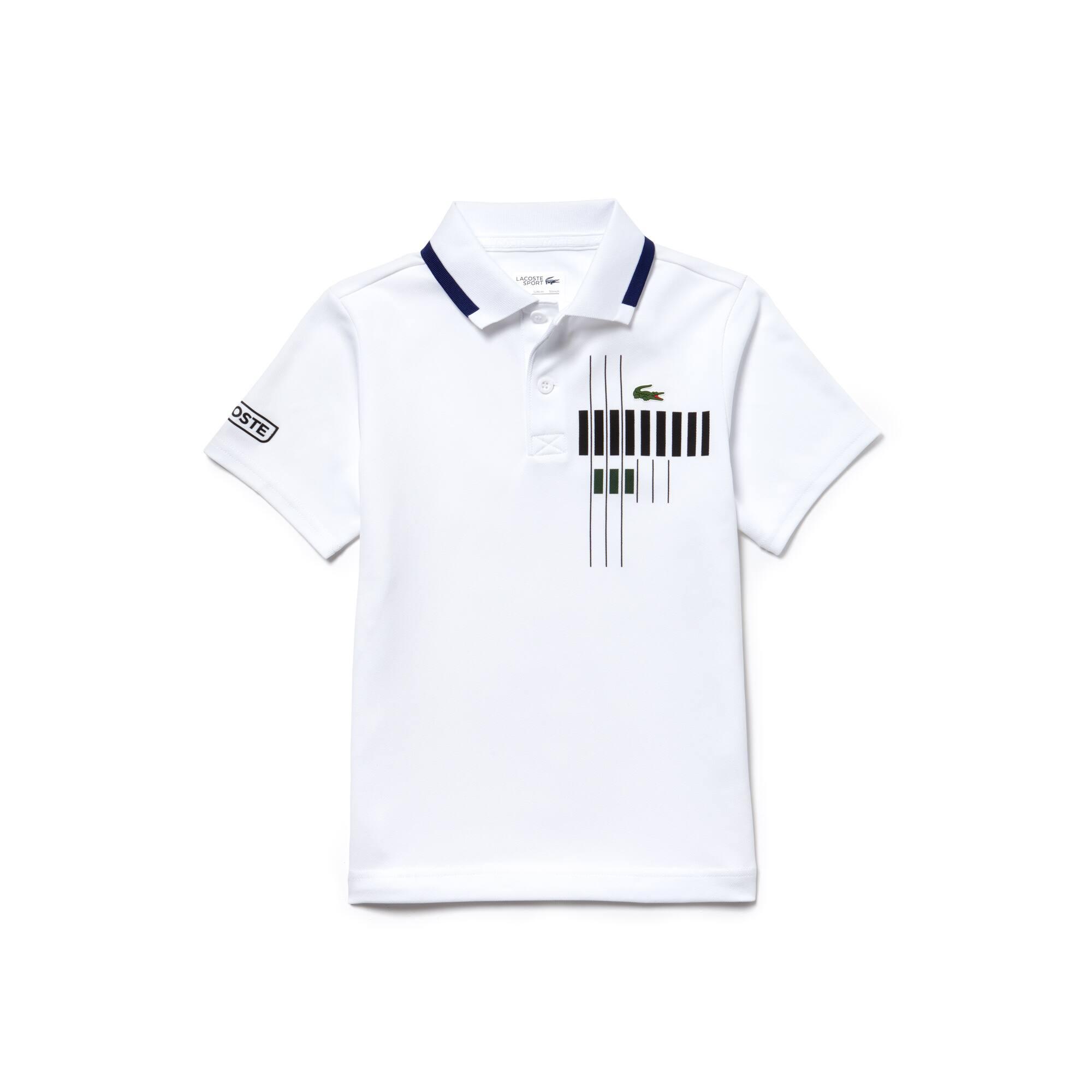 Polo Bambino Tennis Lacoste SPORT in piqué tecnico con scritta