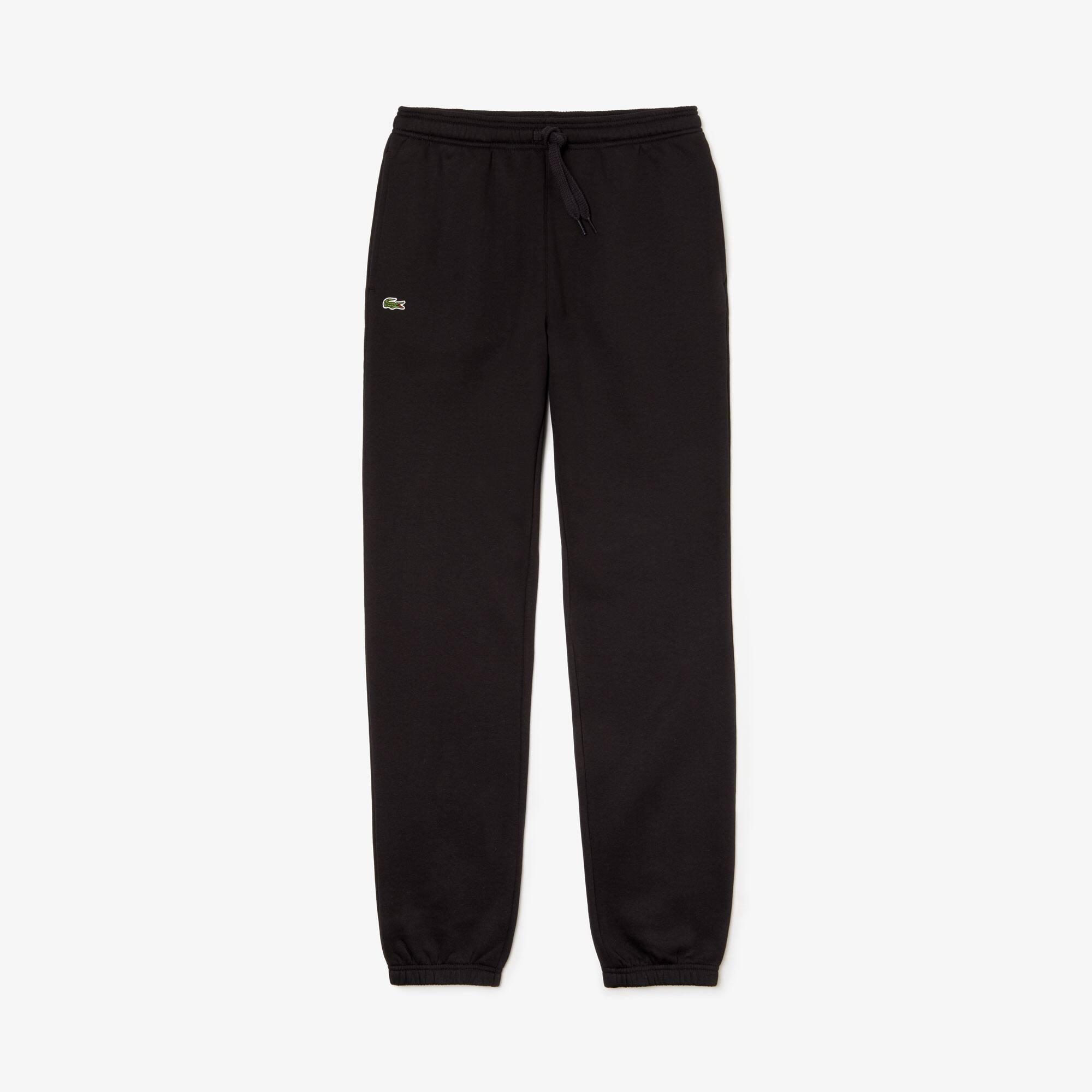 Pantaloni da ginnastica Lacoste SPORT in pile in tinta unita