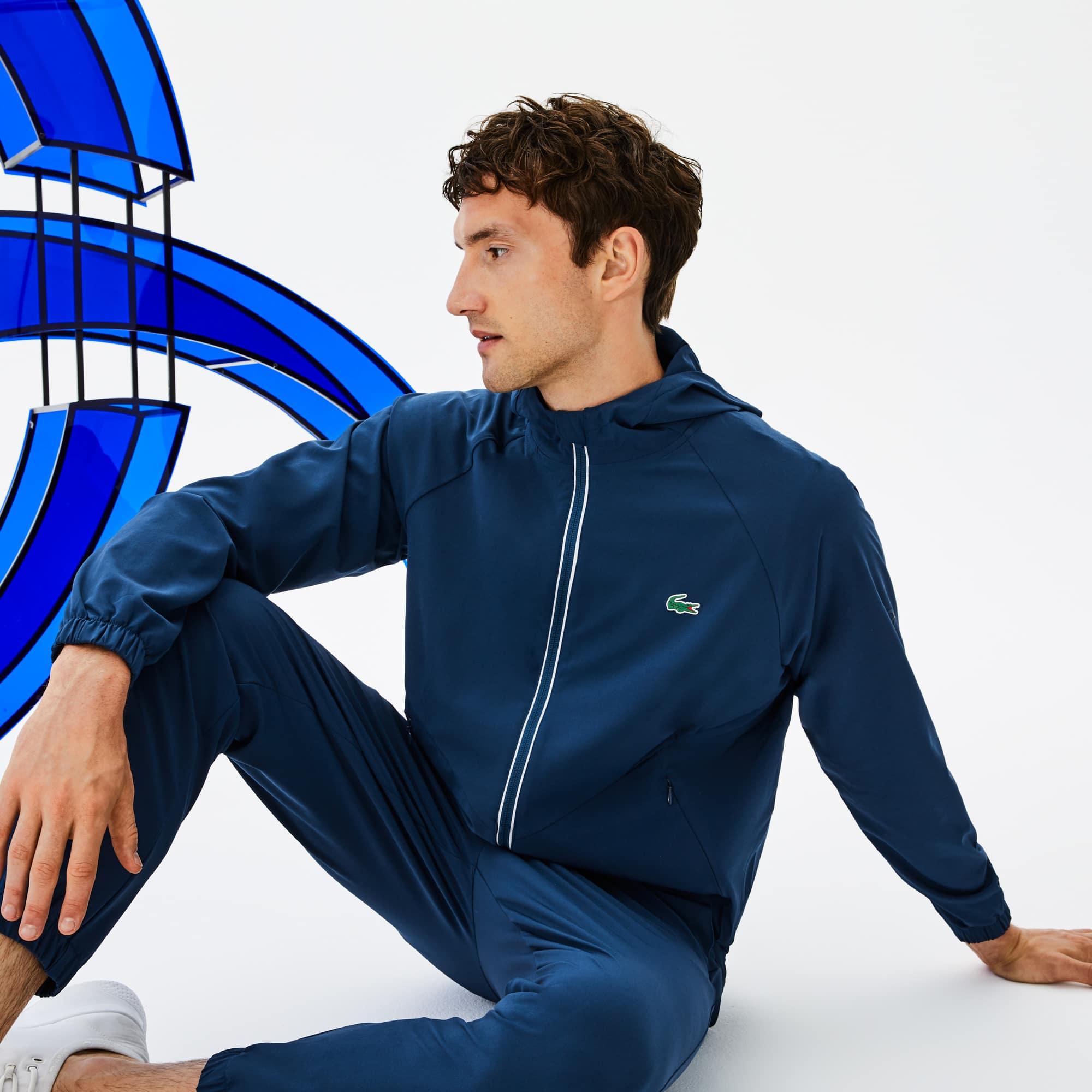 Giacca con cappuccio Lacoste SPORT Collezione Novak Djokovic - Off Court Premium in midlayer tecnico stretch