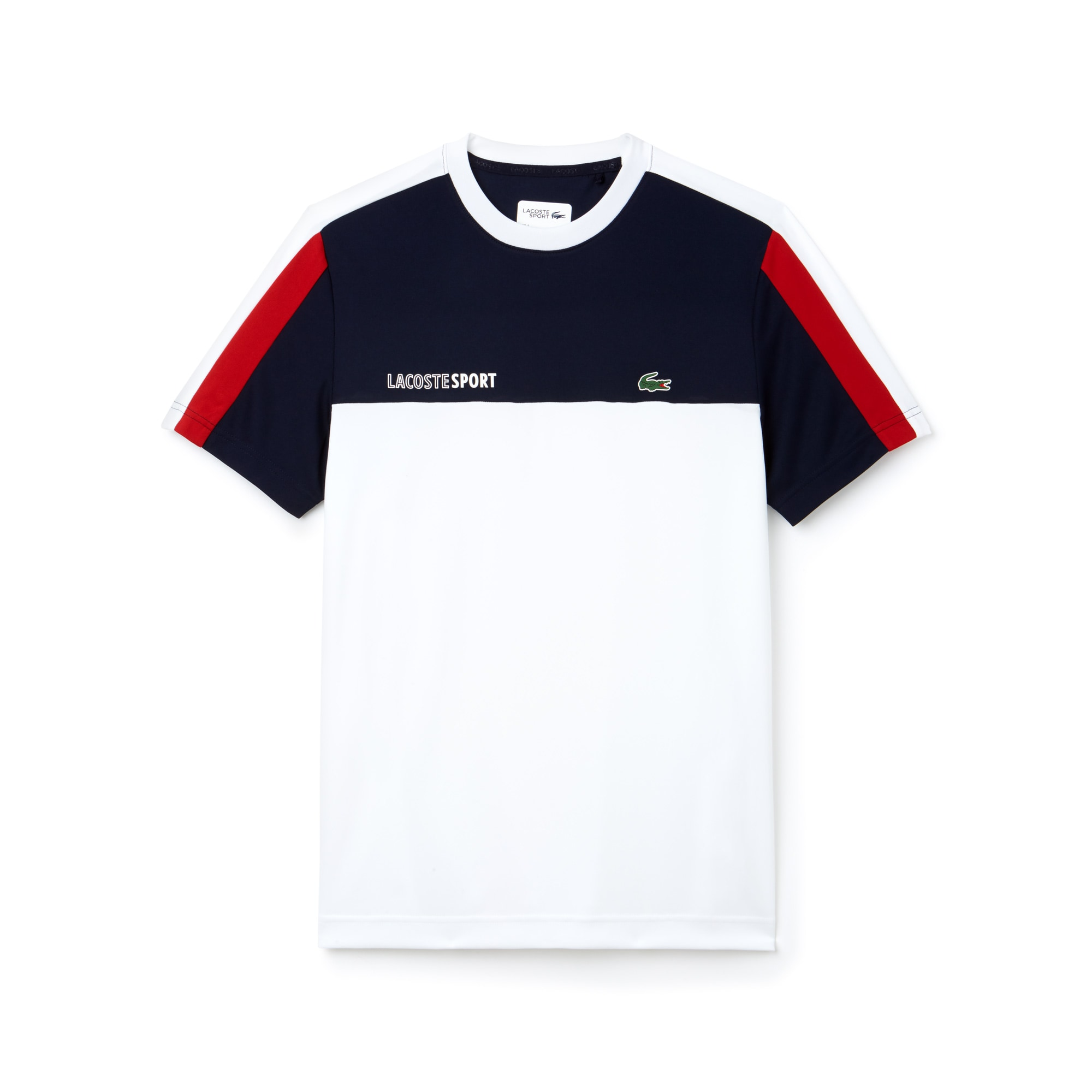 T-shirt a girocollo Tennis Lacoste SPORT in piqué tecnico color block