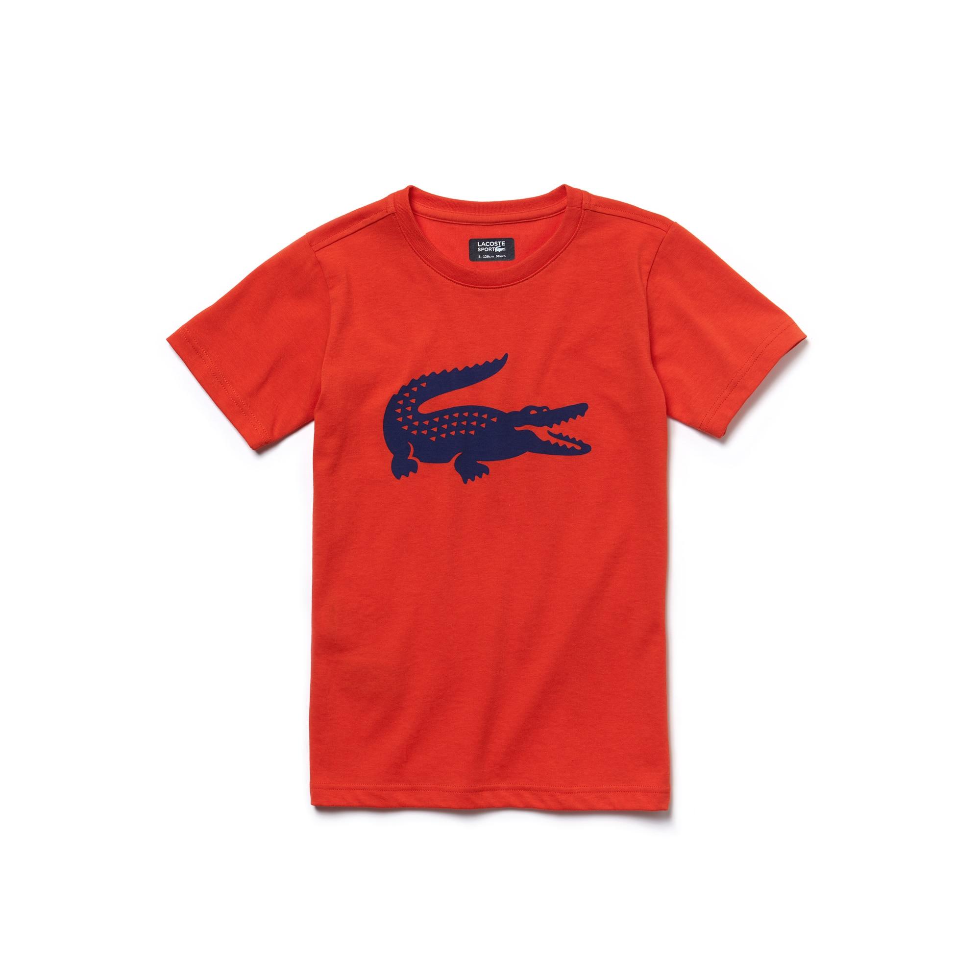 T-shirt Bambino Tennis Lacoste SPORT in jersey tecnico con coccodrillo oversize