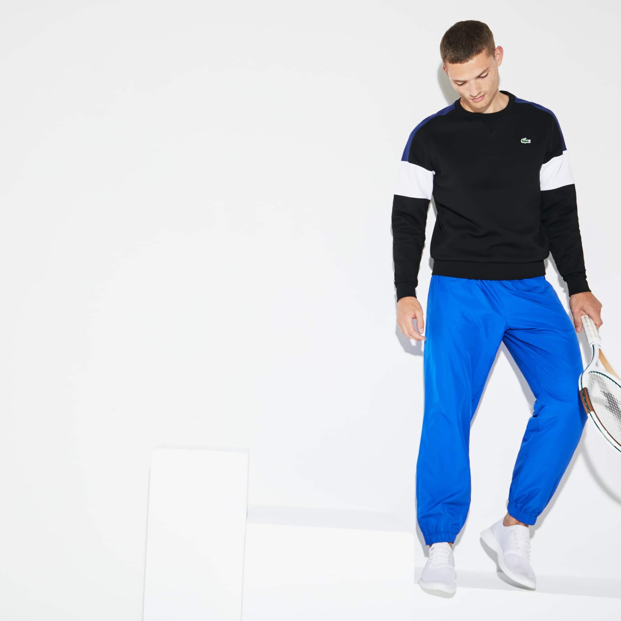 Pantaloni da ginnastica Lacoste SPORT in taffettà a losanghe in tinta unita