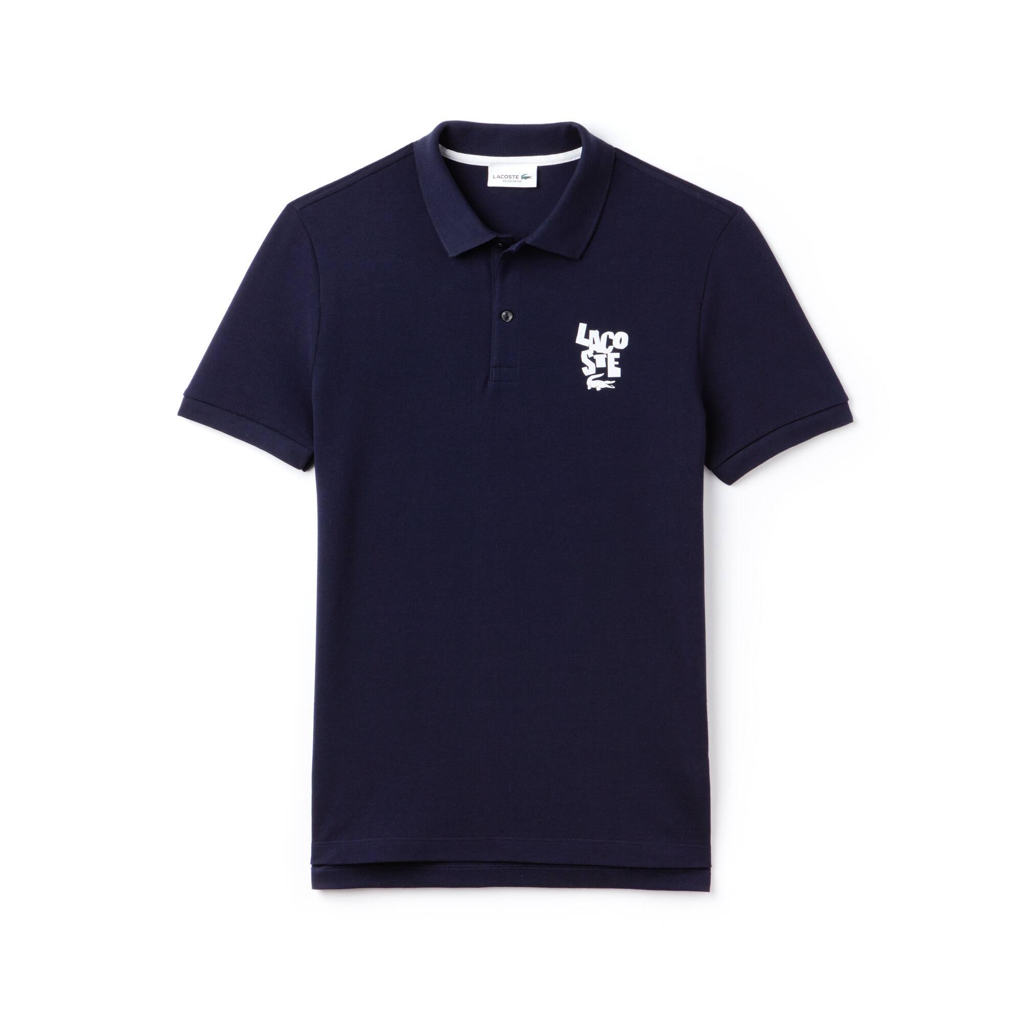 Polo regular fit Lacoste in petit piqué di cotone con marchio
