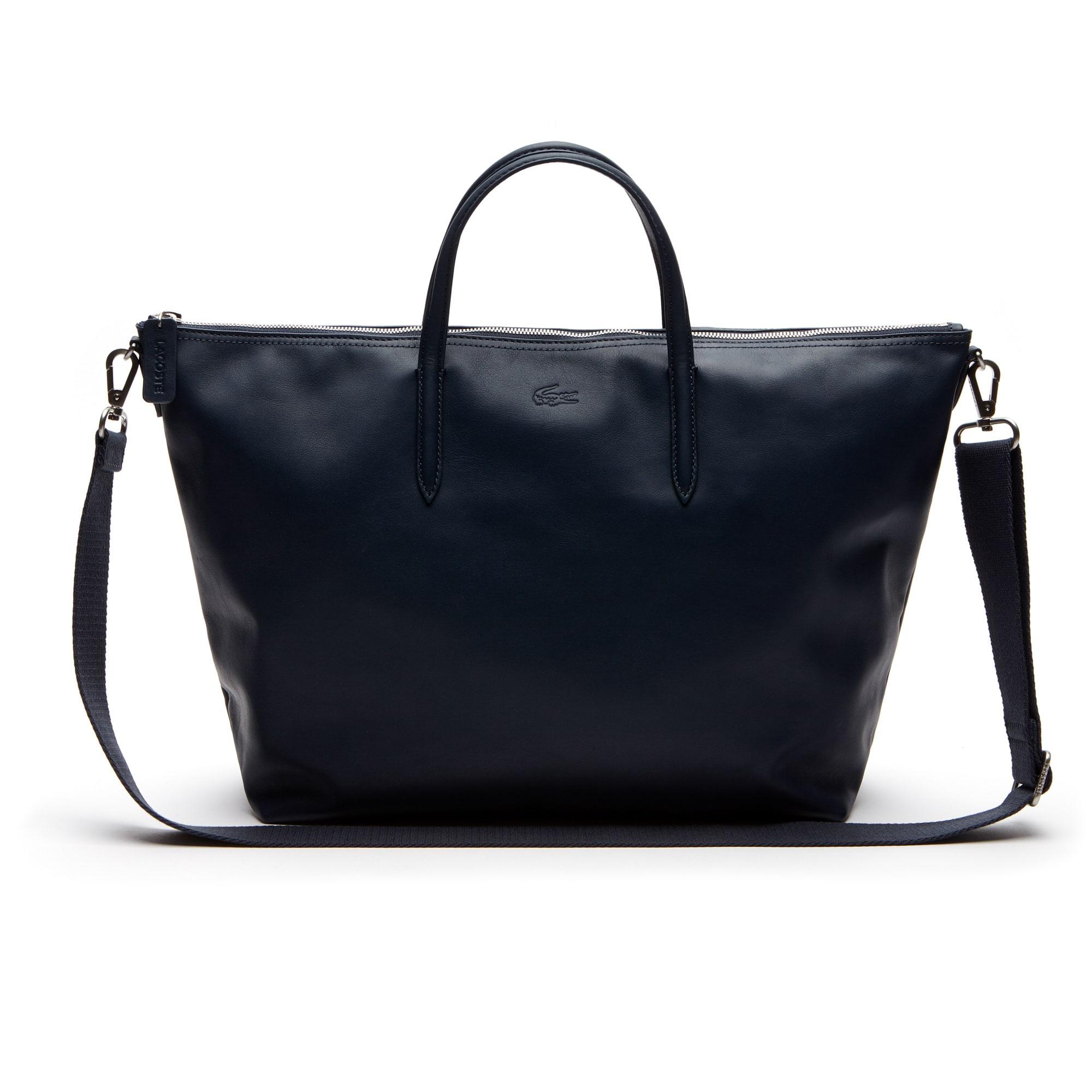 Shopping bag con zip L.12.12 Edizione limitata 85° anniversario in pelle morbida