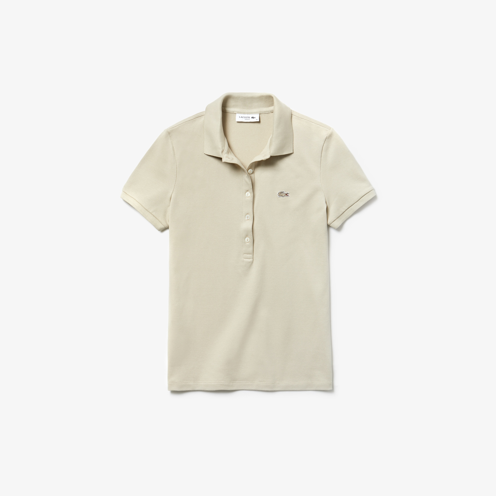 69cf5d46e65c ... Polo slim fit Lacoste in mini piqué di cotone stretch tinta unita