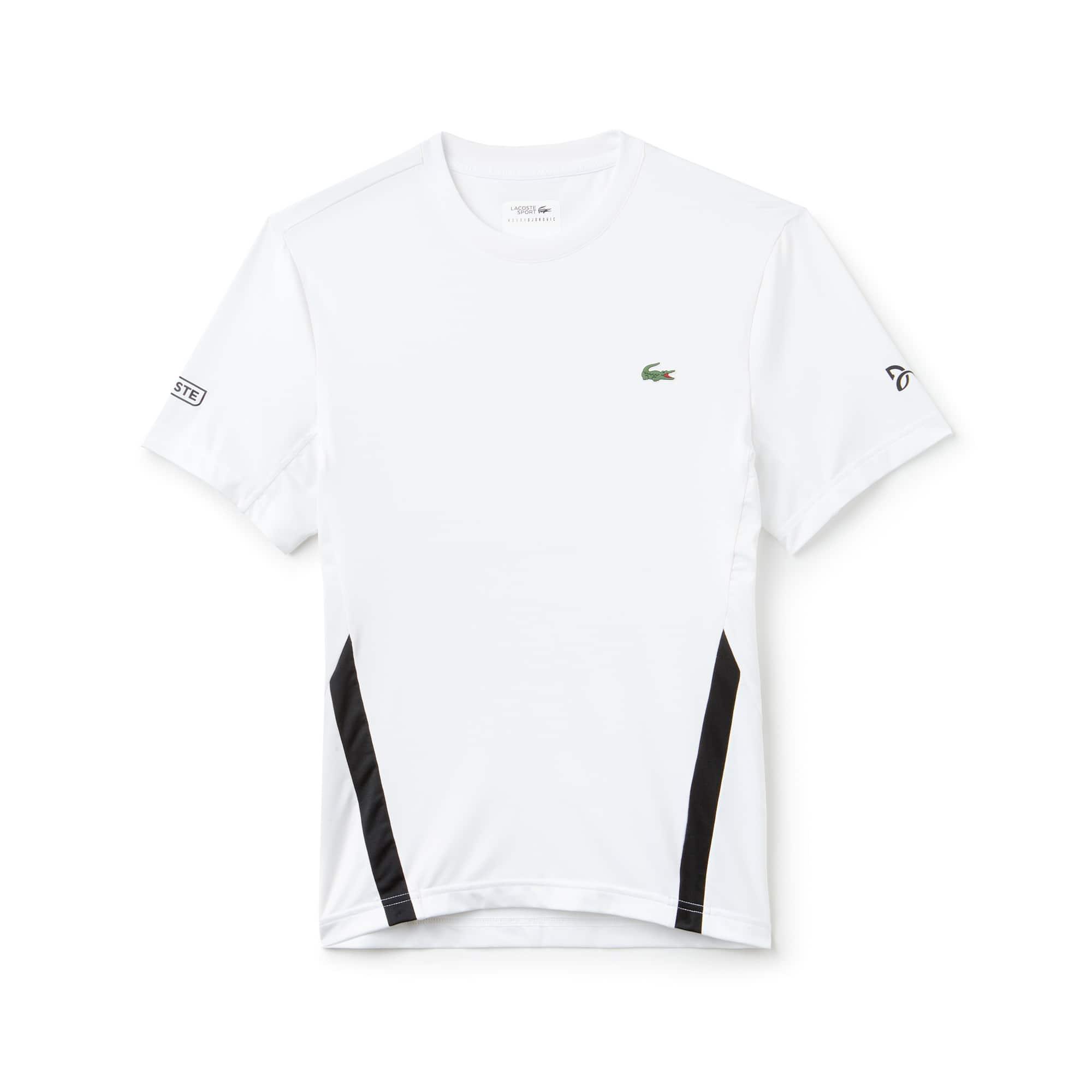 T-shirt a girocollo Lacoste SPORT Collezione Novak Djokovic - Off Court in jersey tecnico stretch