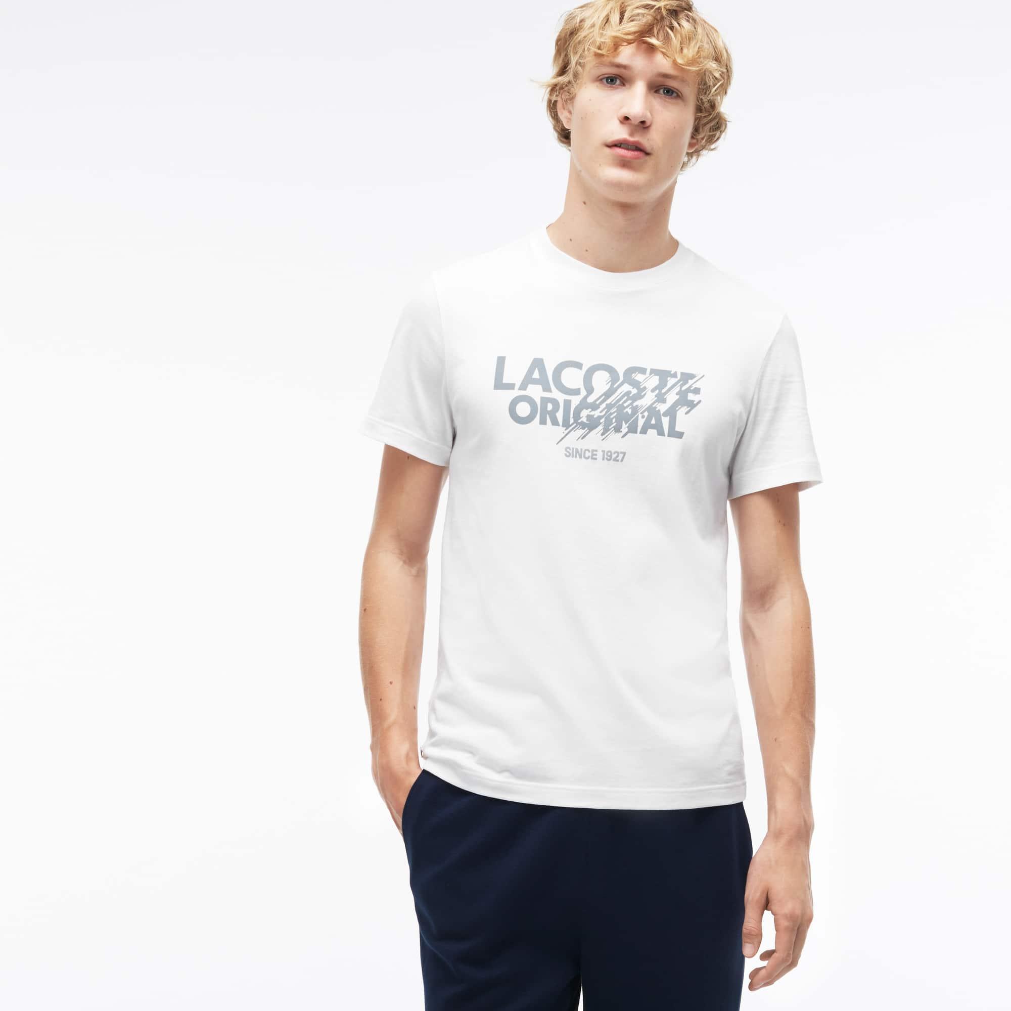 T-shirt a girocollo in jersey con scritta Lacoste Original
