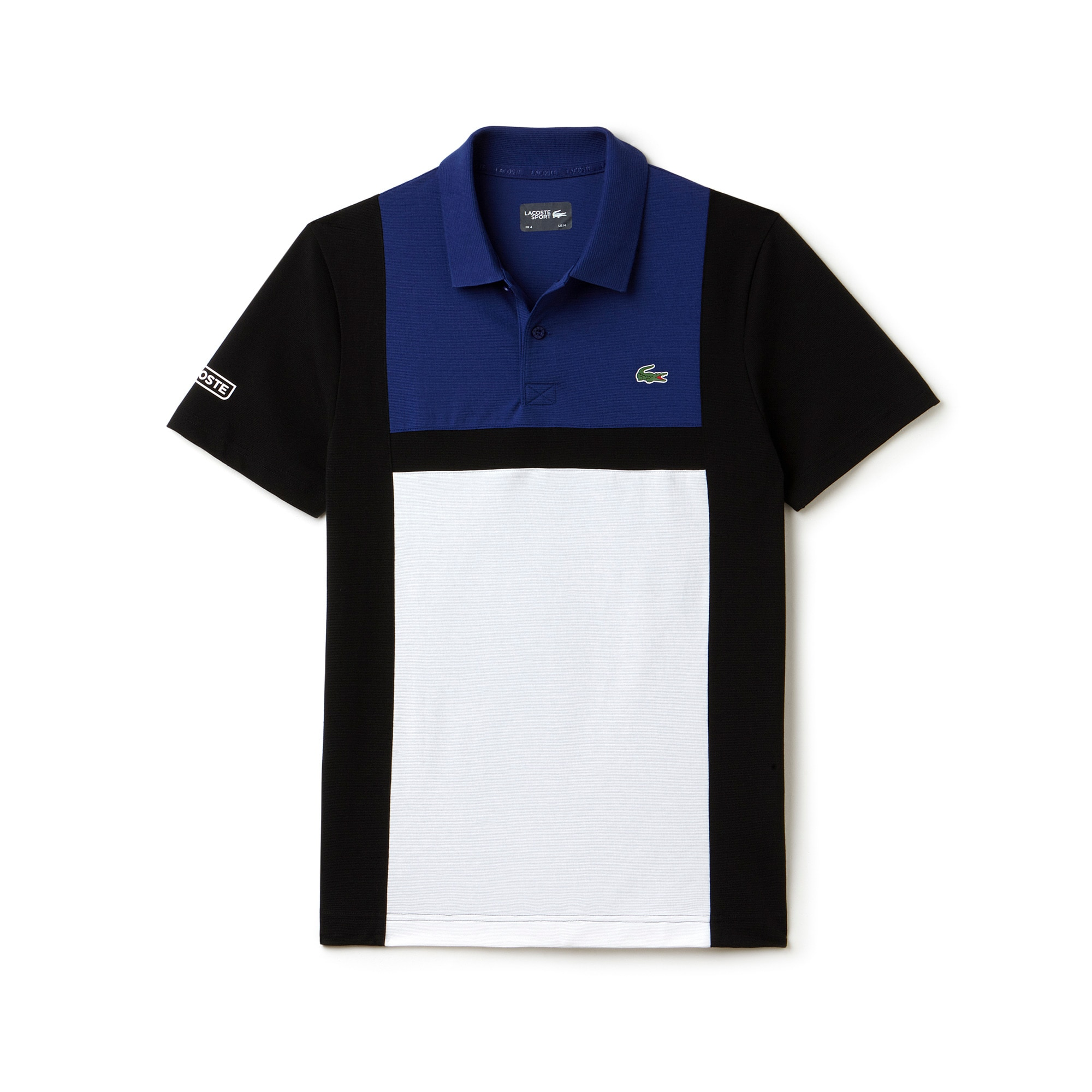 Polo Tennis Lacoste SPORT in cotone ultra leggero color block