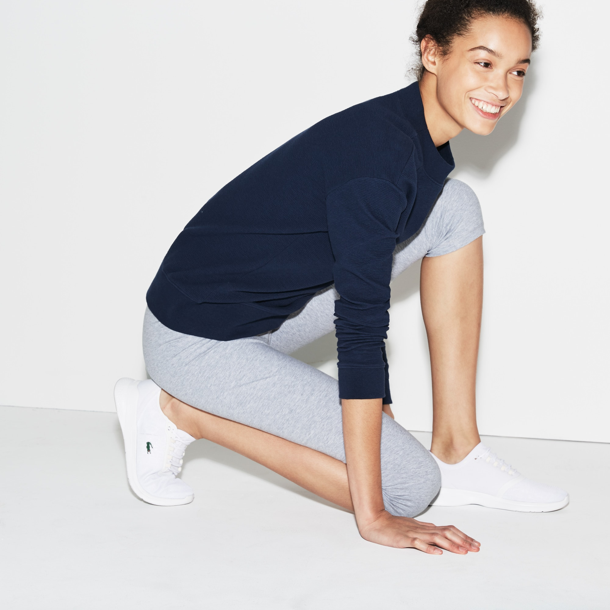 Leggings Tennis Lacoste SPORT in jersey stretch tinta unita