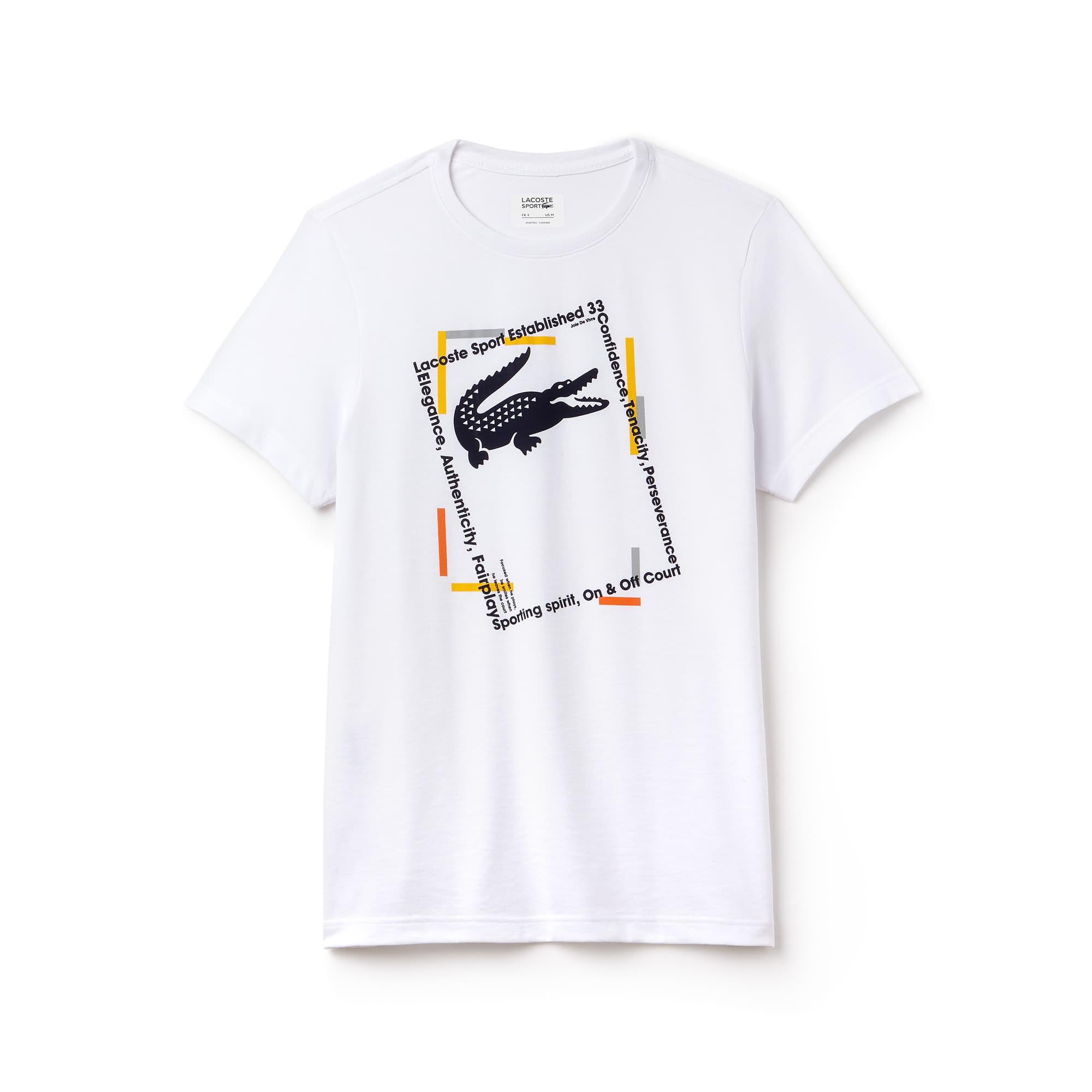 T-shirt Tennis Lacoste SPORT in jersey tecnico con marchi