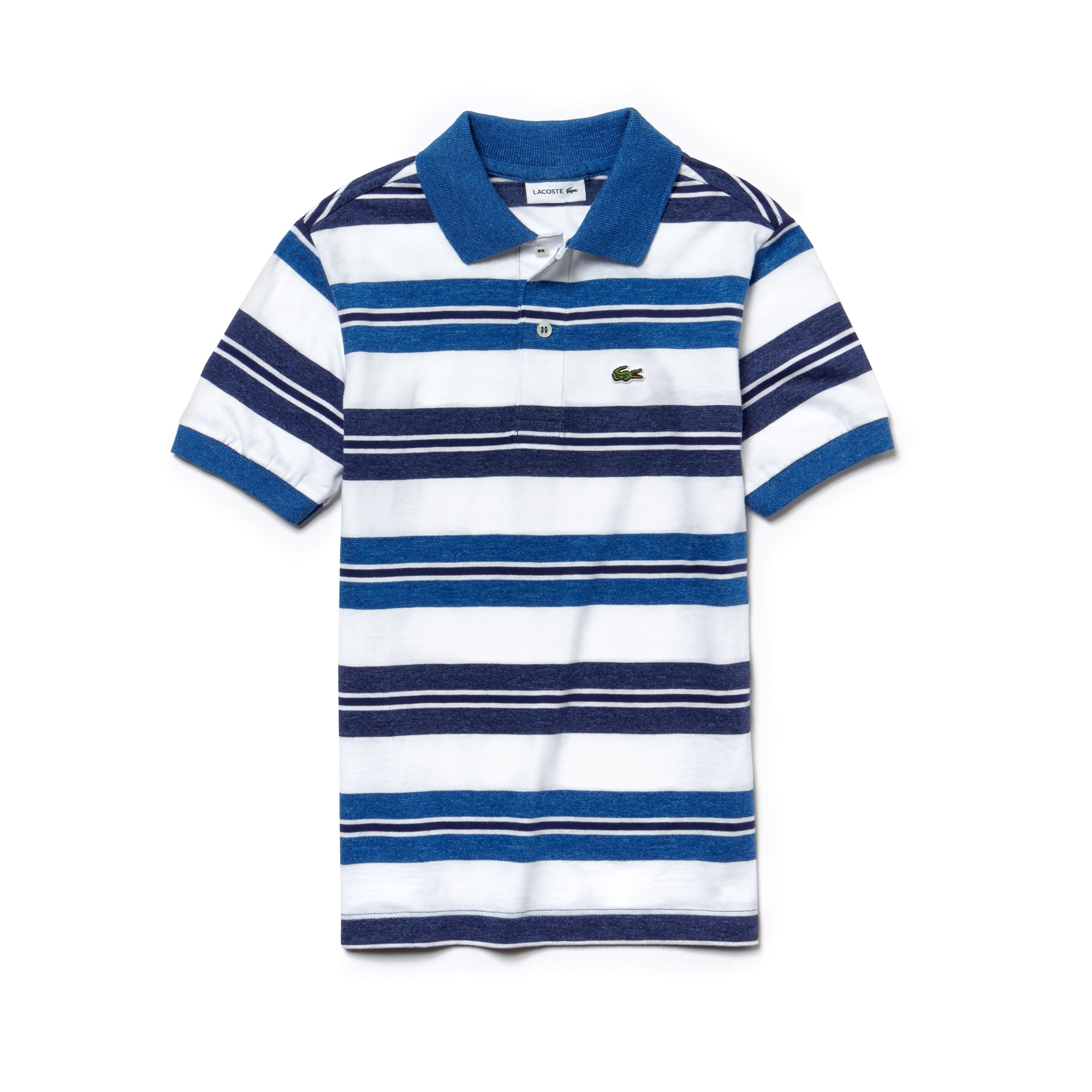 Polo Bambino Lacoste in jersey di cotone a righe