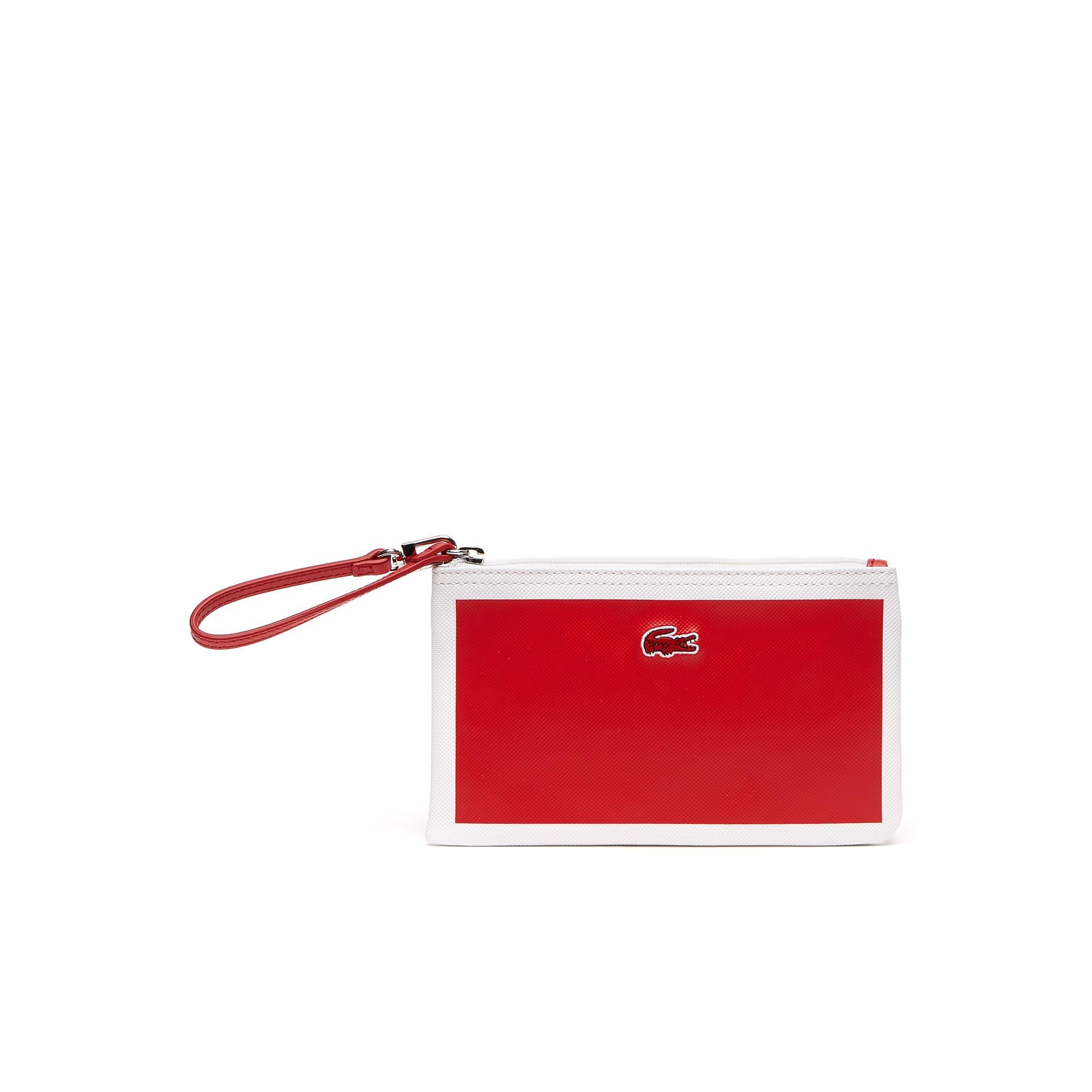 Pochette con zip L.12.12 Concept in petit piqué color block