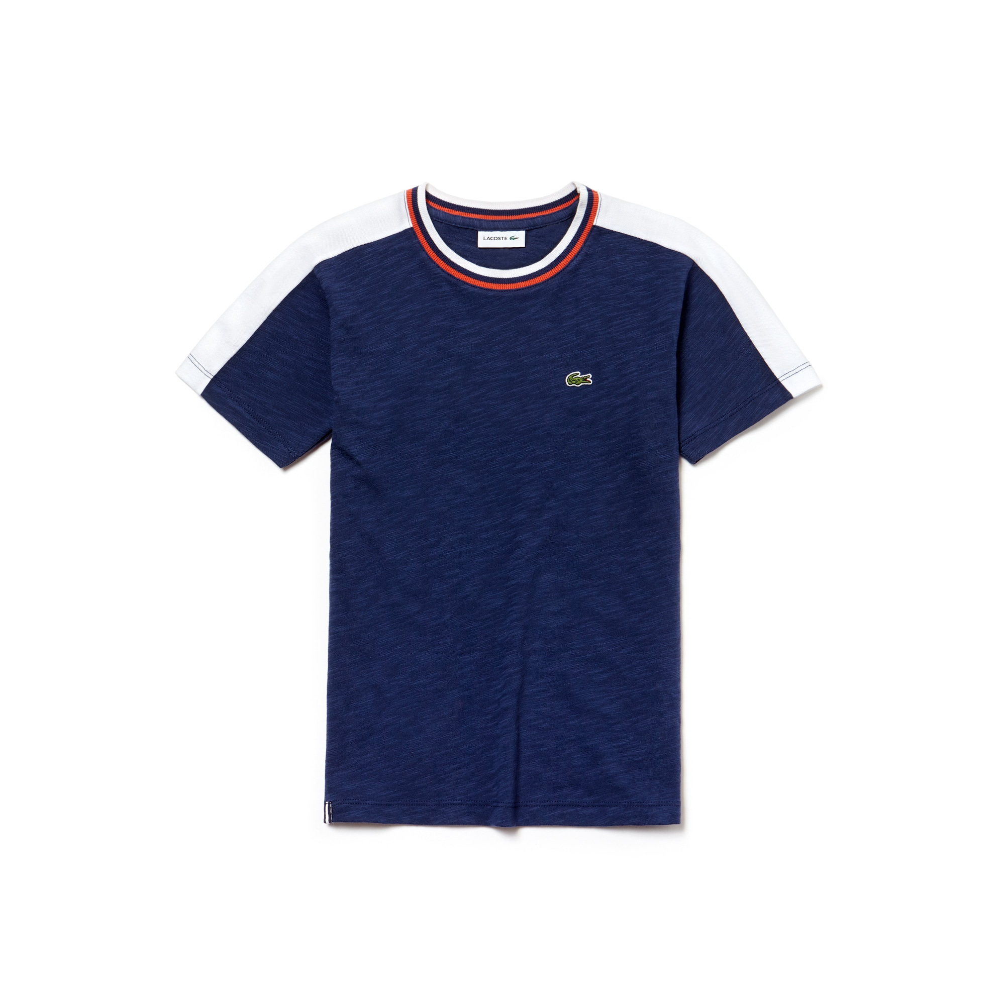 T-shirt Bambino in jersey fiammato color block