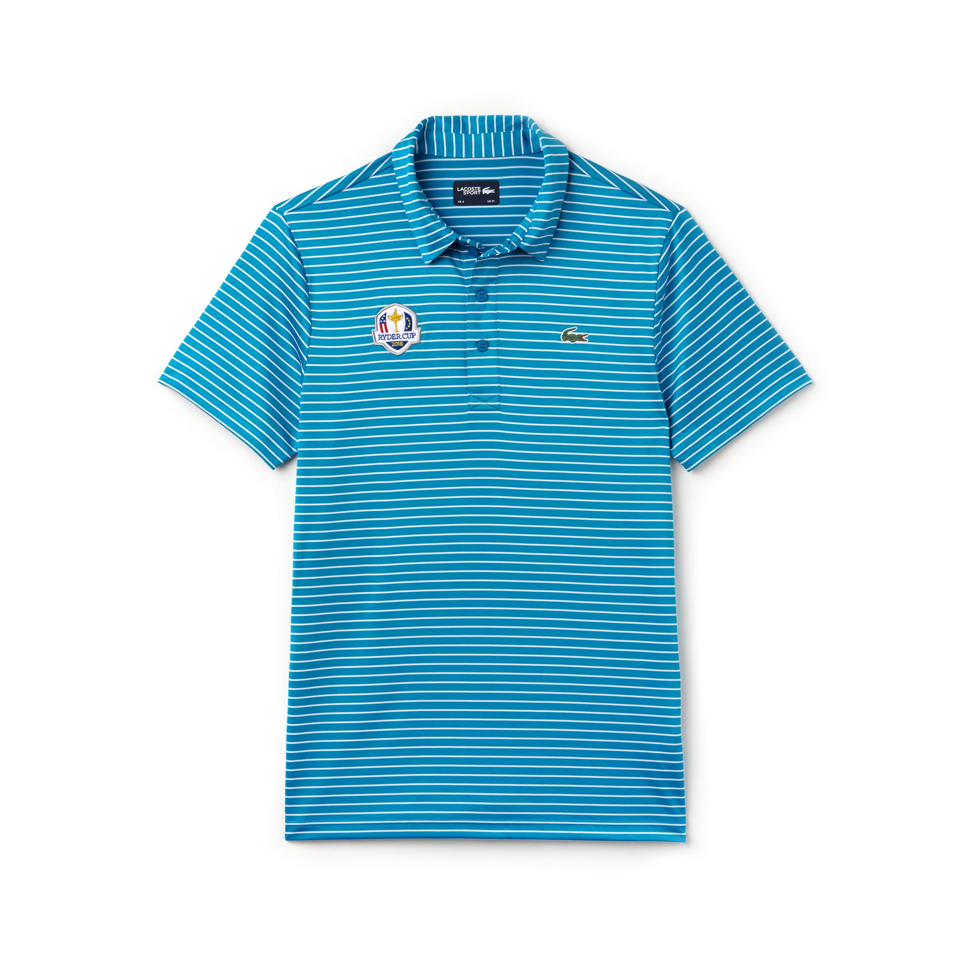 Polo Golf Lacoste SPORT in jersey stretch a righe Edizione Ryder Cup