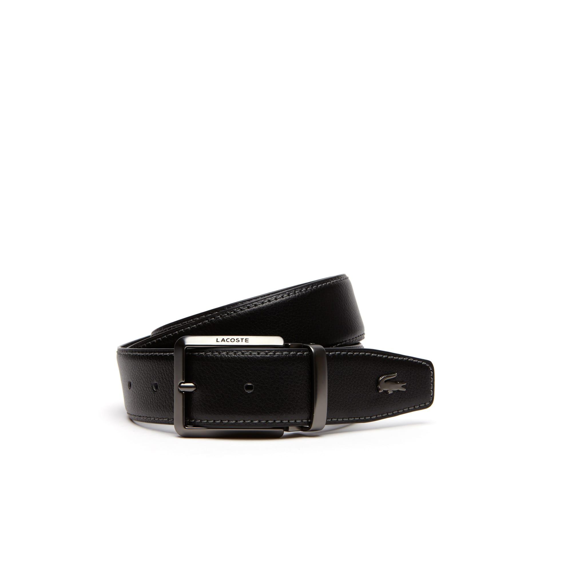Cintura in pelle reversibile con fibbia ad ardiglione dotata di incisione Lacoste