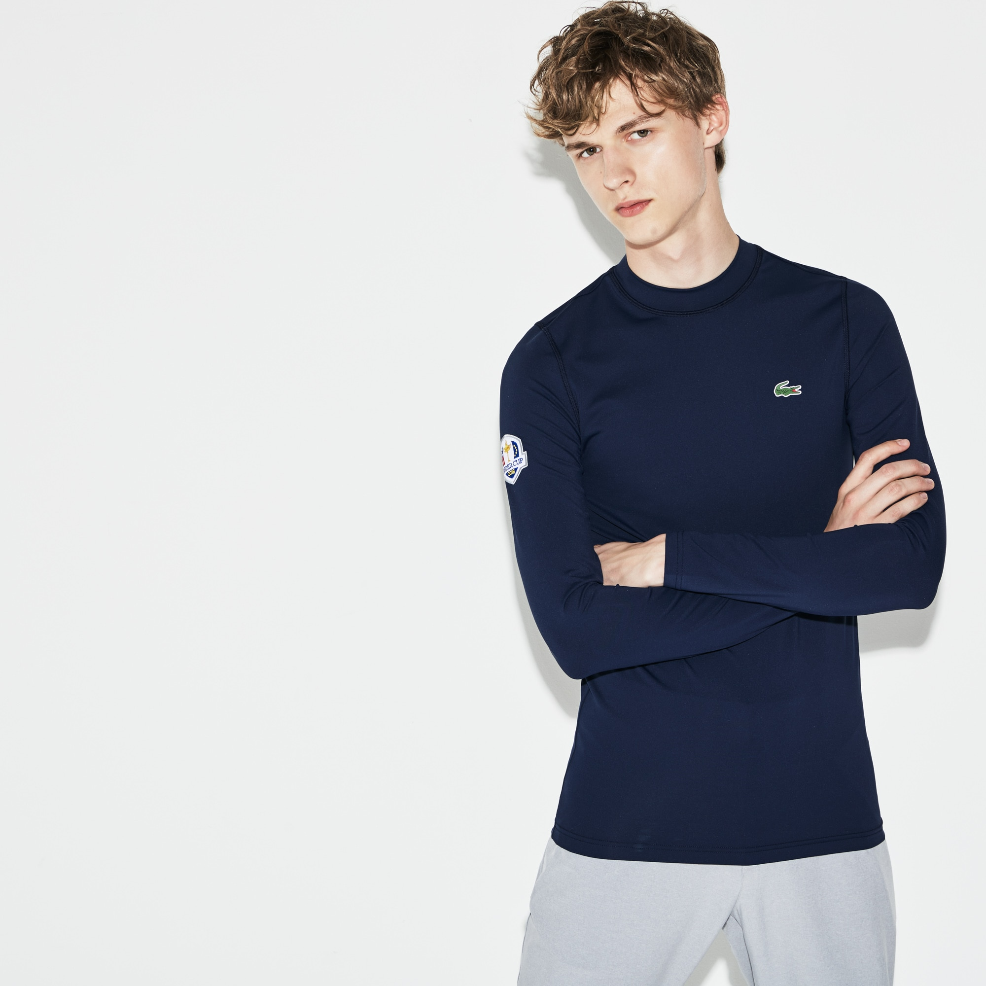 T-shirt Golf Lacoste SPORT a maniche lunghe in jersey Edizione Ryder Cup
