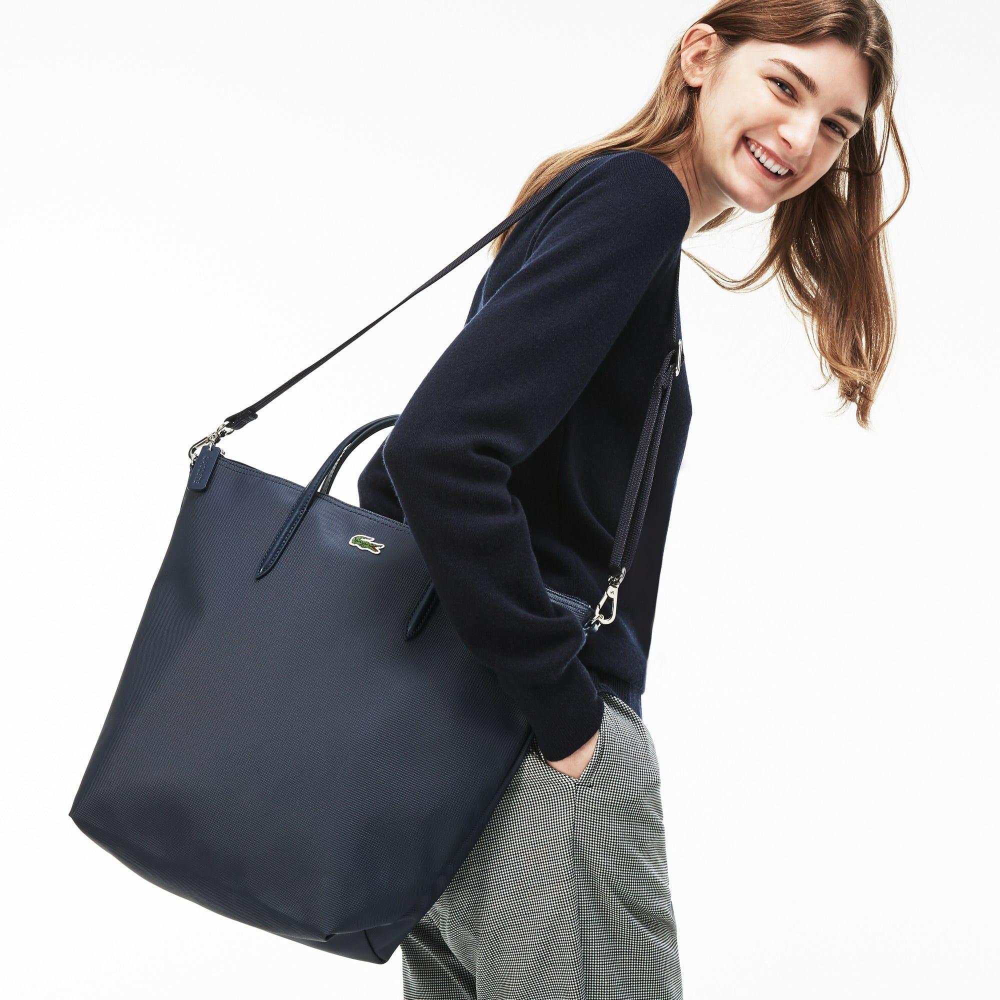 Shopping bag verticale a doppia modalità d'uso L.12.12 Concept tinta unita