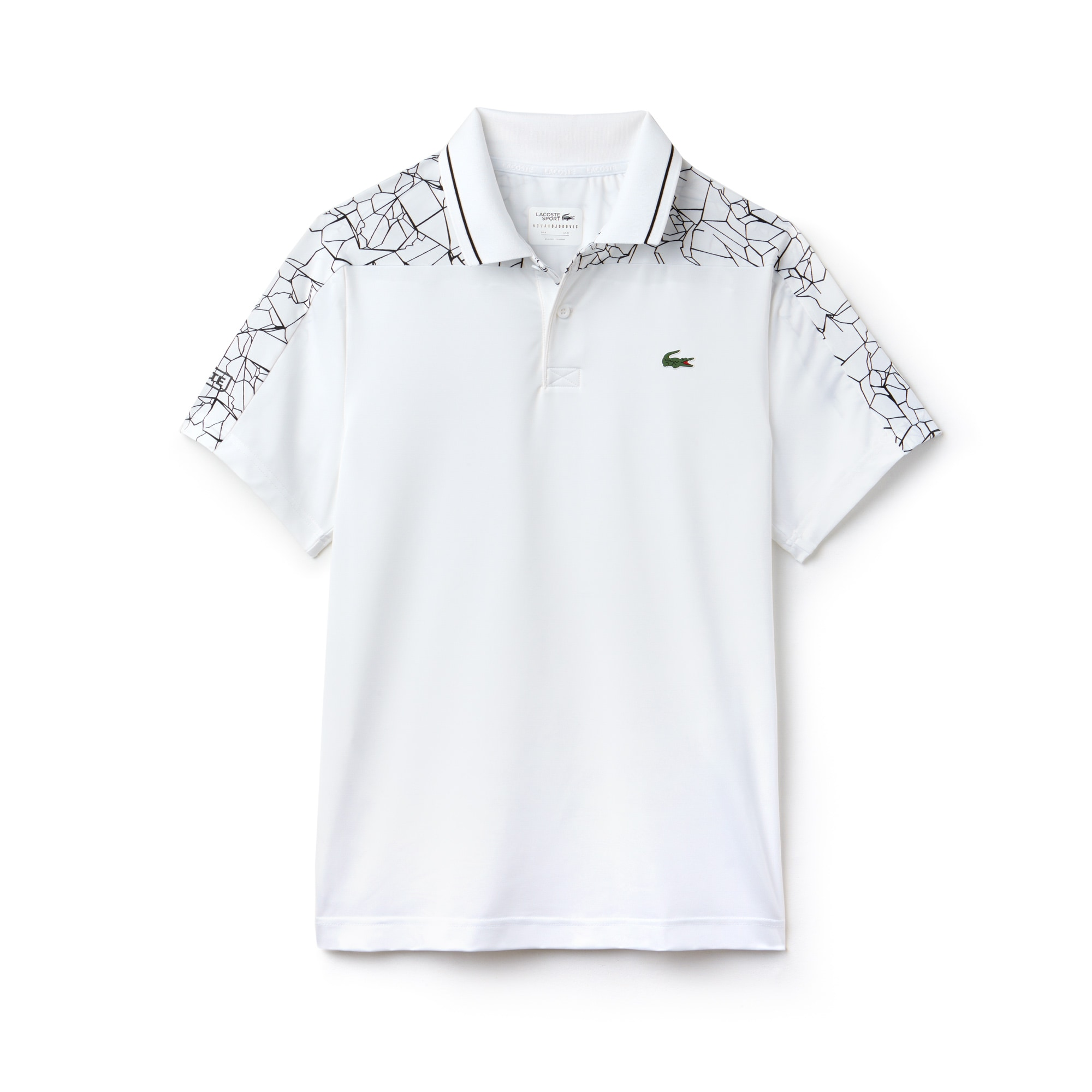 Polo Lacoste SPORT Collezione Novak Djokovic - Off Court in jersey tecnico stretch