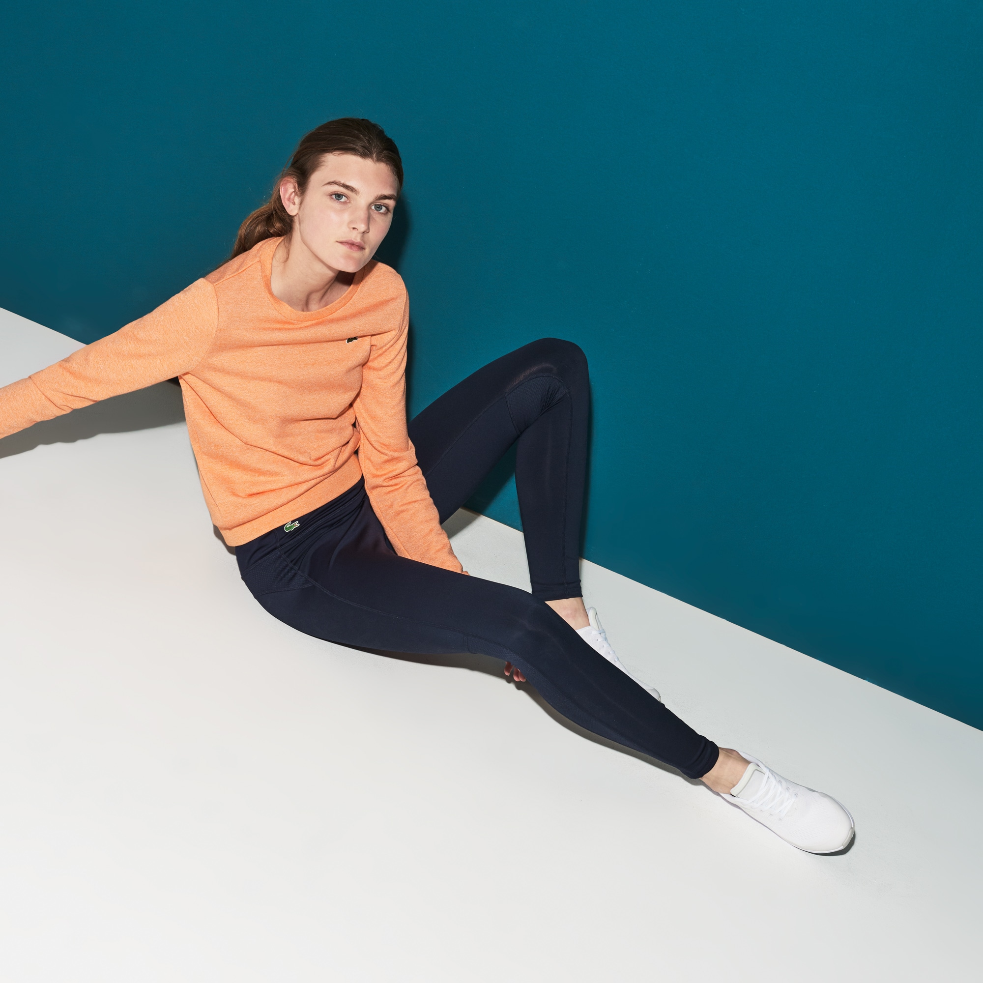 Leggings Tennis Lacoste SPORT in jersey tecnico