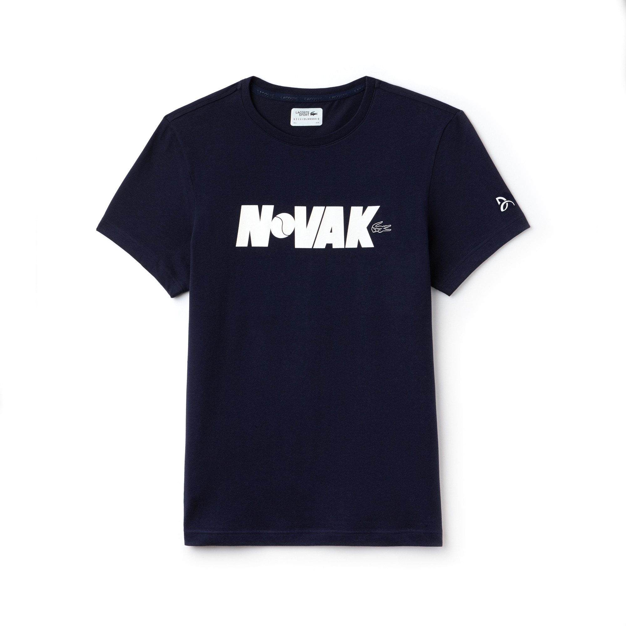 T-shirt girocollo Lacoste SPORT COLLEZIONE NOVAK DJOKOVIC SUPPORT WITH STYLE in jersey tecnico