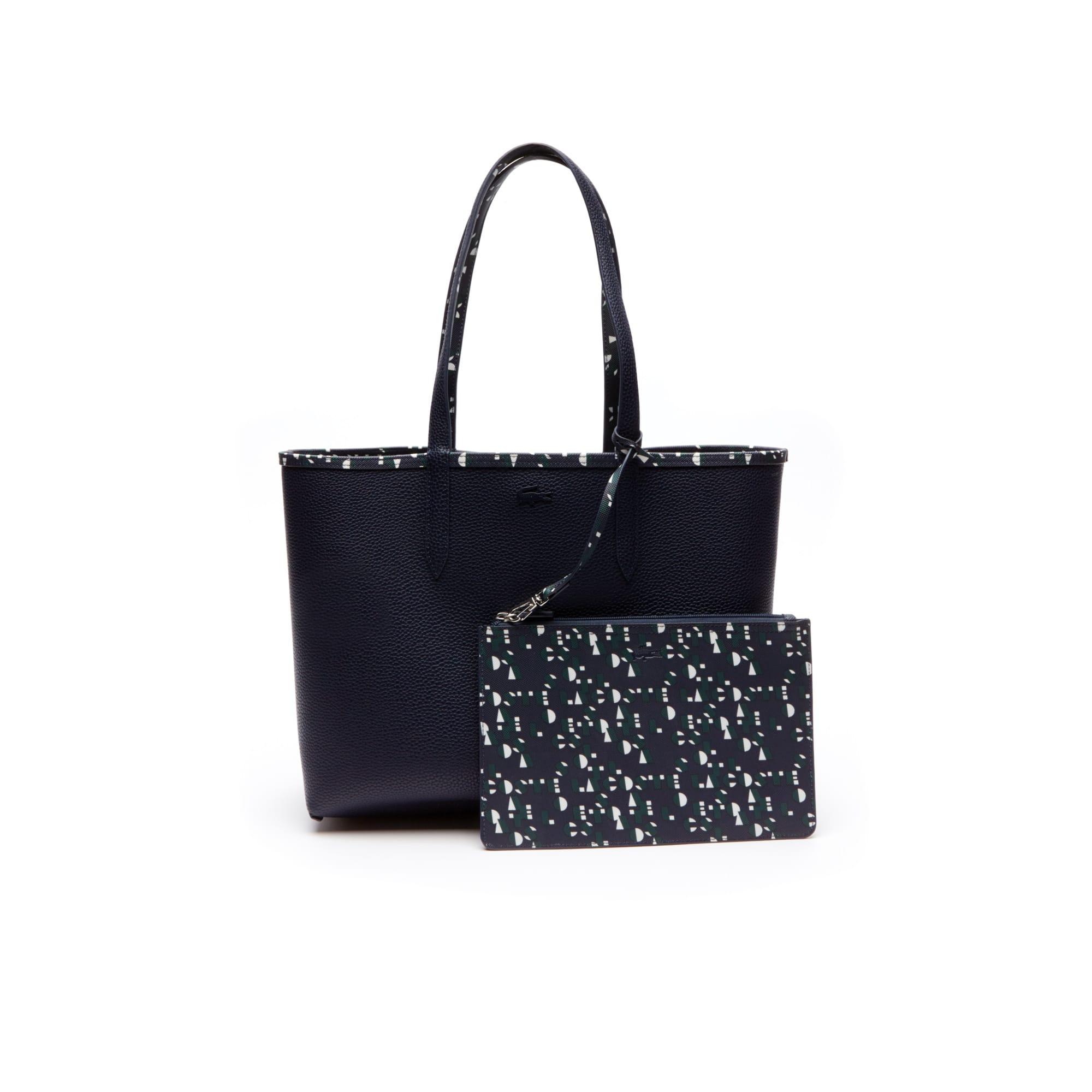 Shopping bag con stampa Lacoste bicolore double face Anna da donna