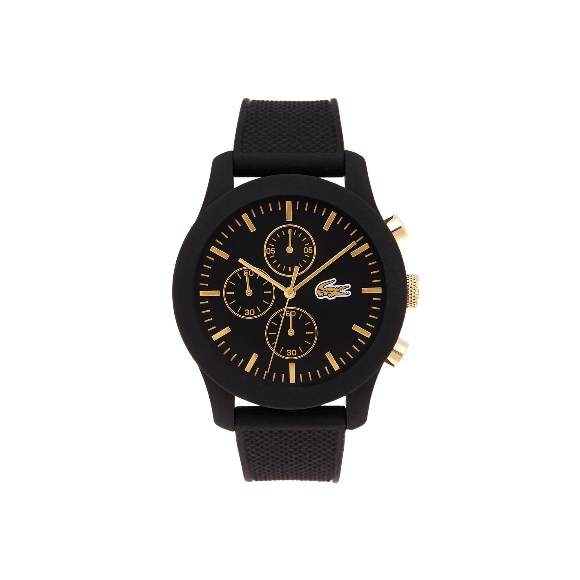Orologio cronografo Lacoste 12.12 da uomo con cinturino in silicone nero