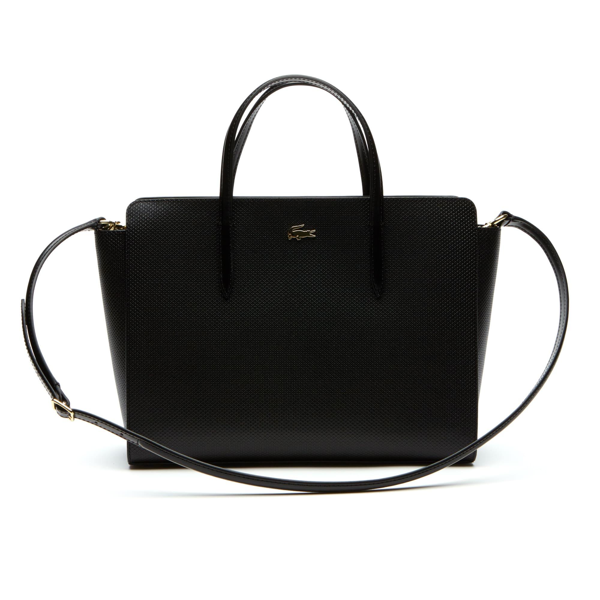 Shopping bag con soffietti Chantaco a doppia modalità d'uso in pelle a piqué