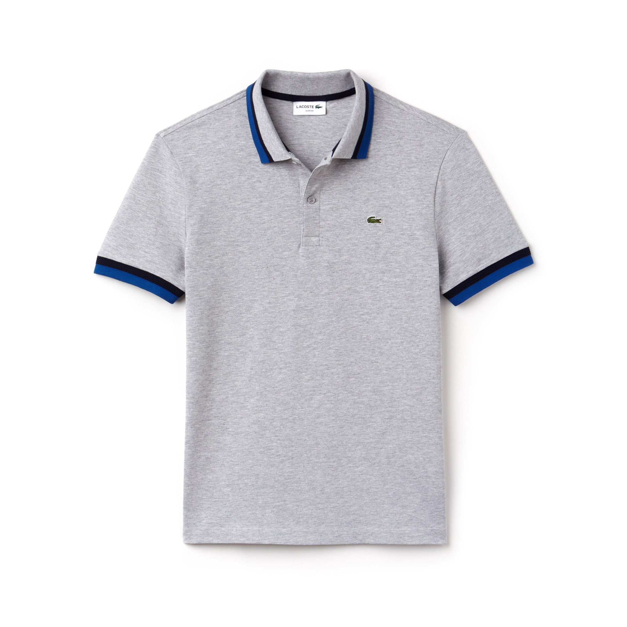 Polo slim fit Lacoste in piqué Pima stretch con dettagli a contrasto
