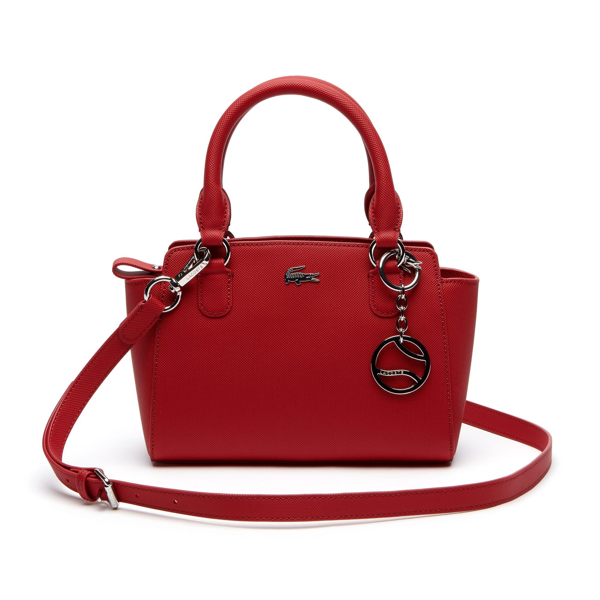 Mini shopping bag Daily Classic in tela spalmata a piqué tinta unita