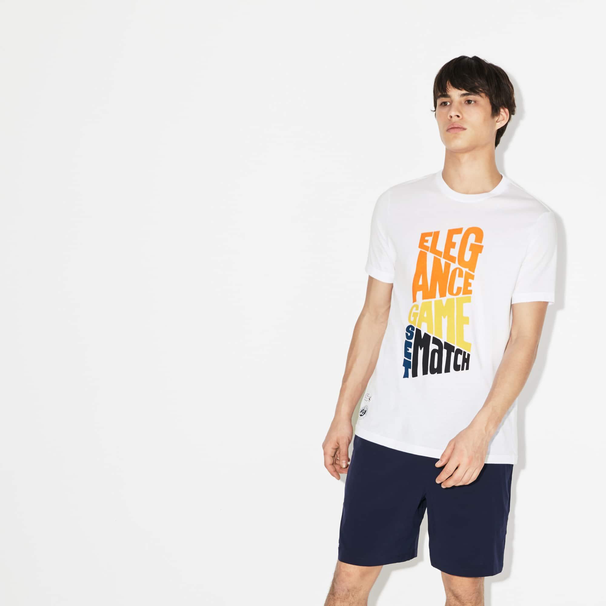 T-shirt Lacoste SPORT in cotone con marchio Edizione Roland Garros