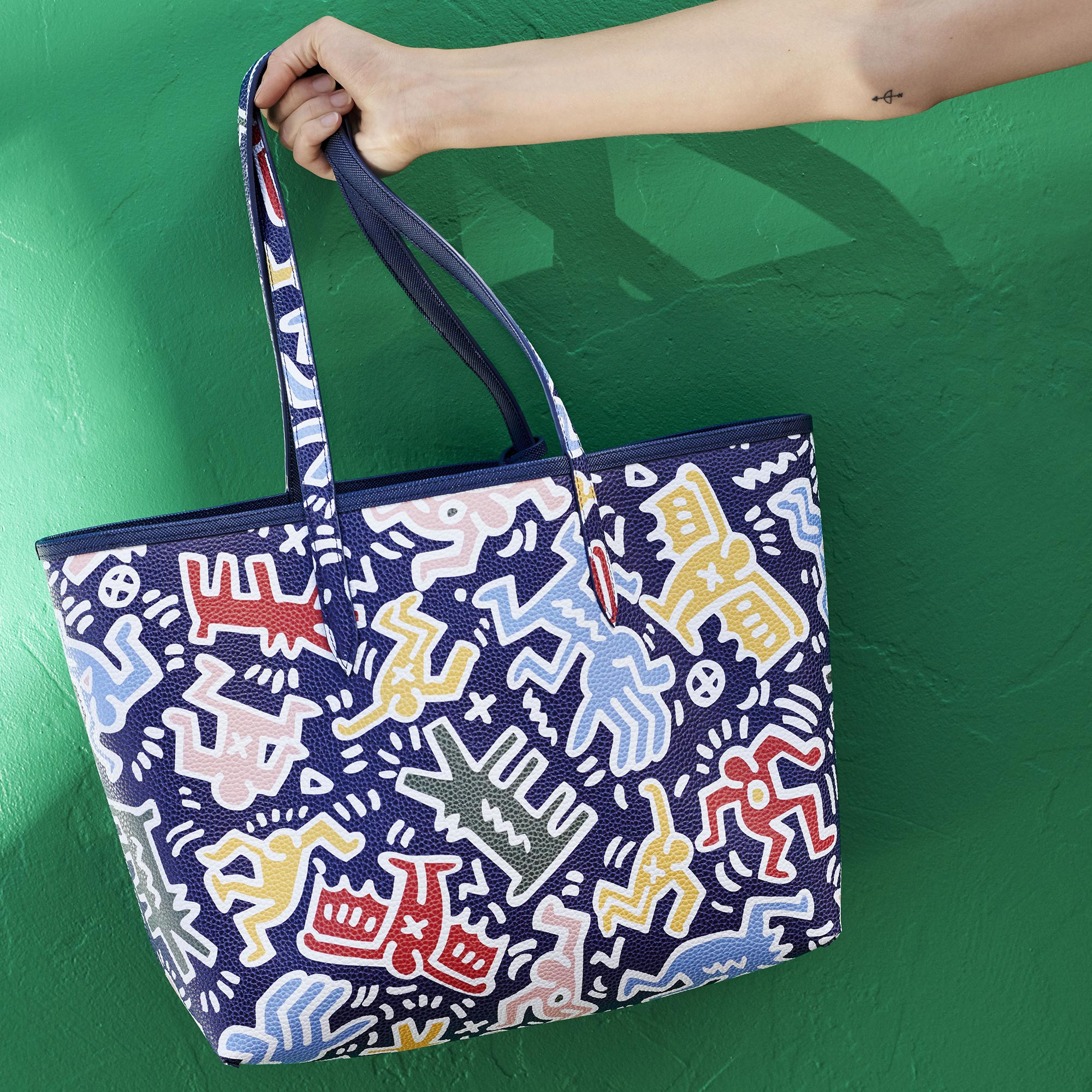 Tote bag Anna double face con pochette Keith Haring da donna
