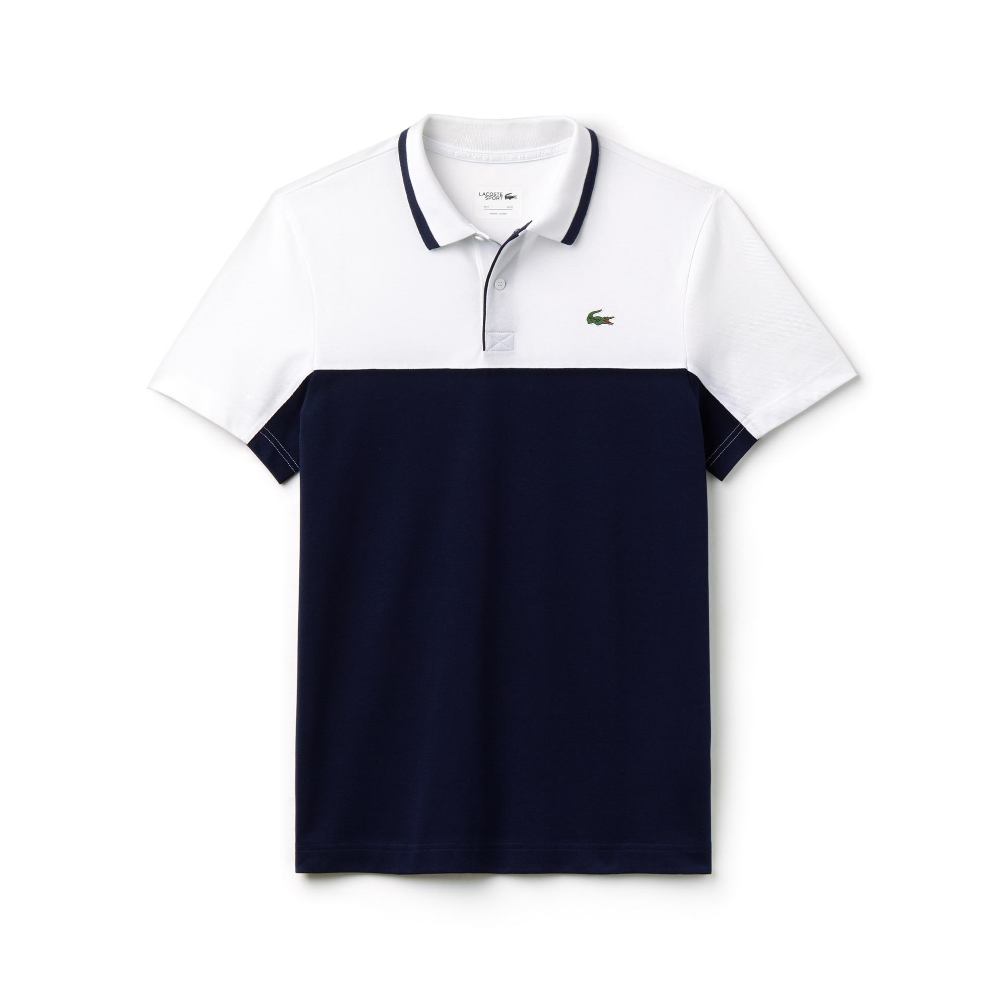 Polo Golf Lacoste SPORT in petit piqué tecnico color block