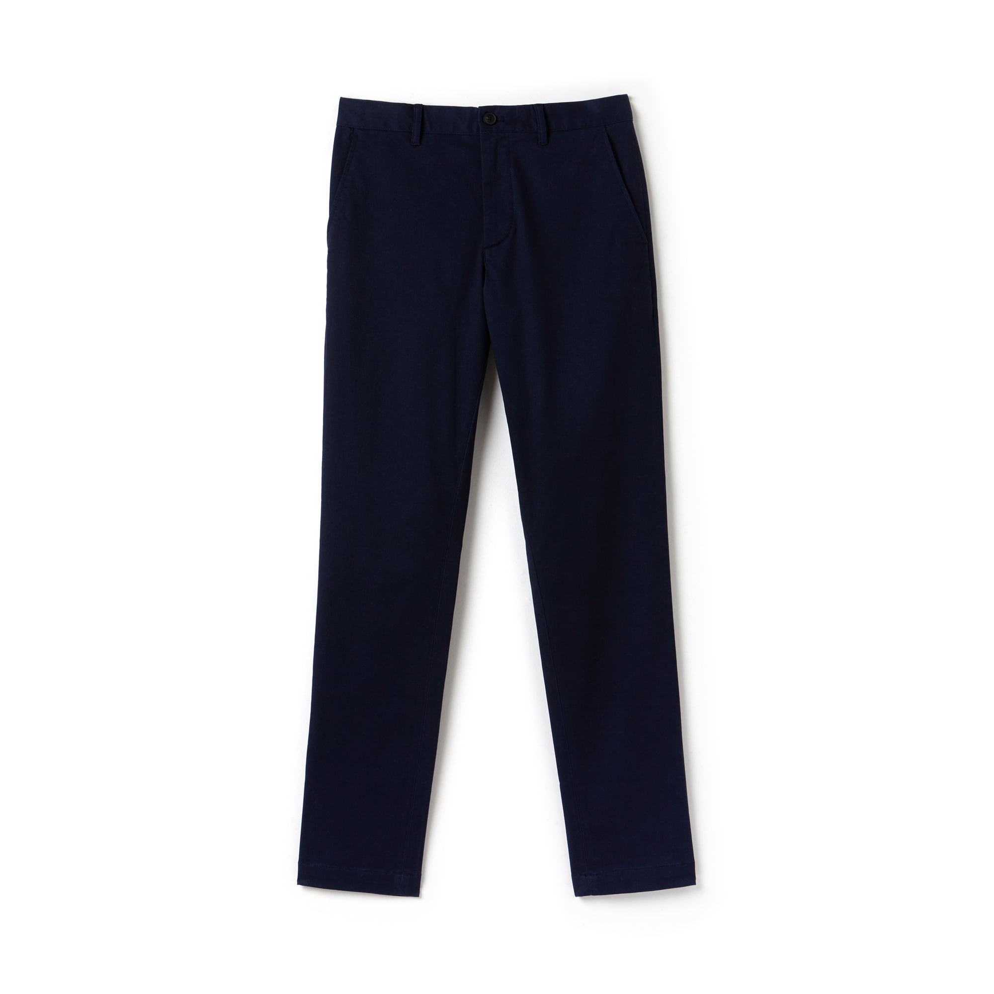 Pantaloni chino slim fit in gabardine stretch tinta unita