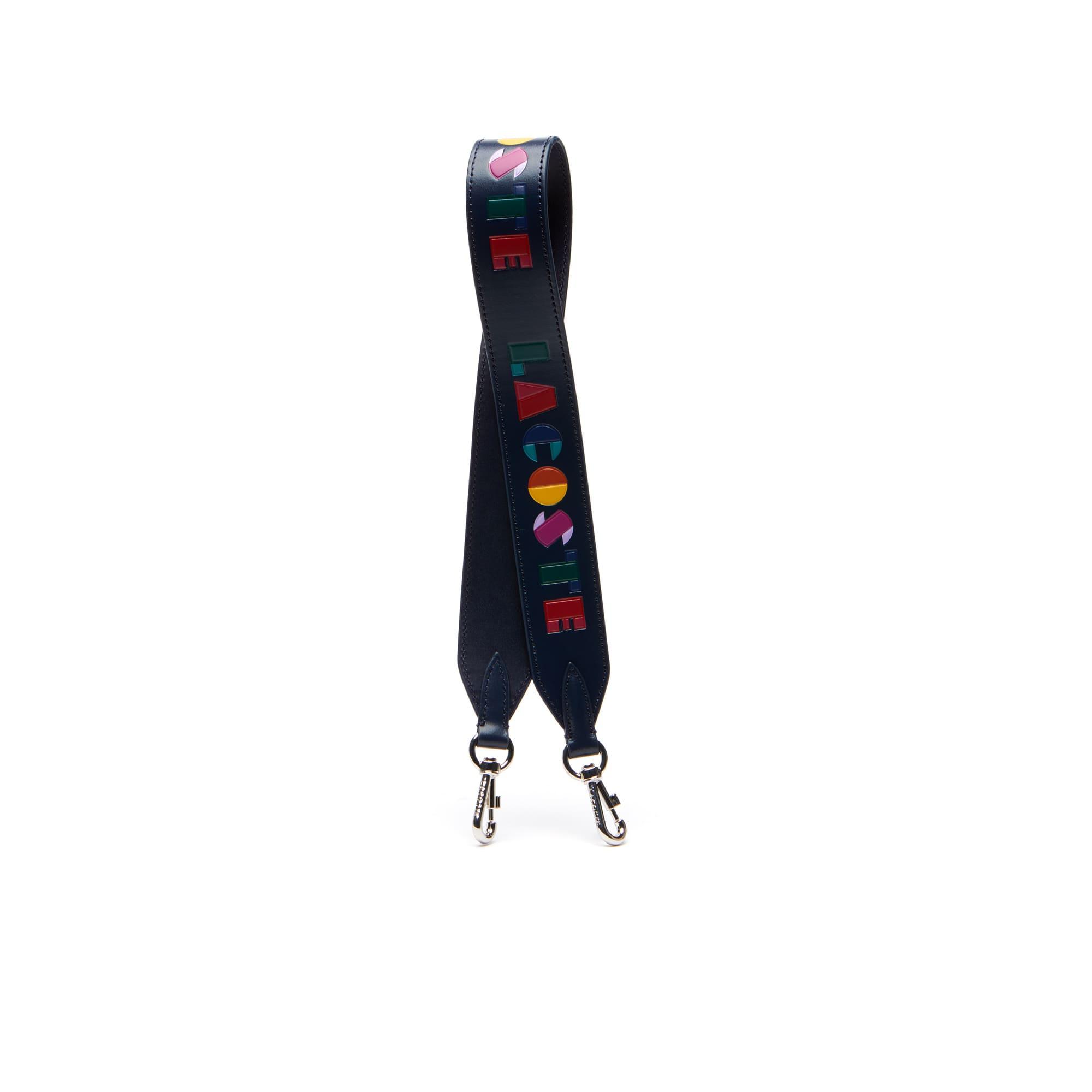 Tracolla in pelle con scritta Lacoste colorata Fancy Straps da donna