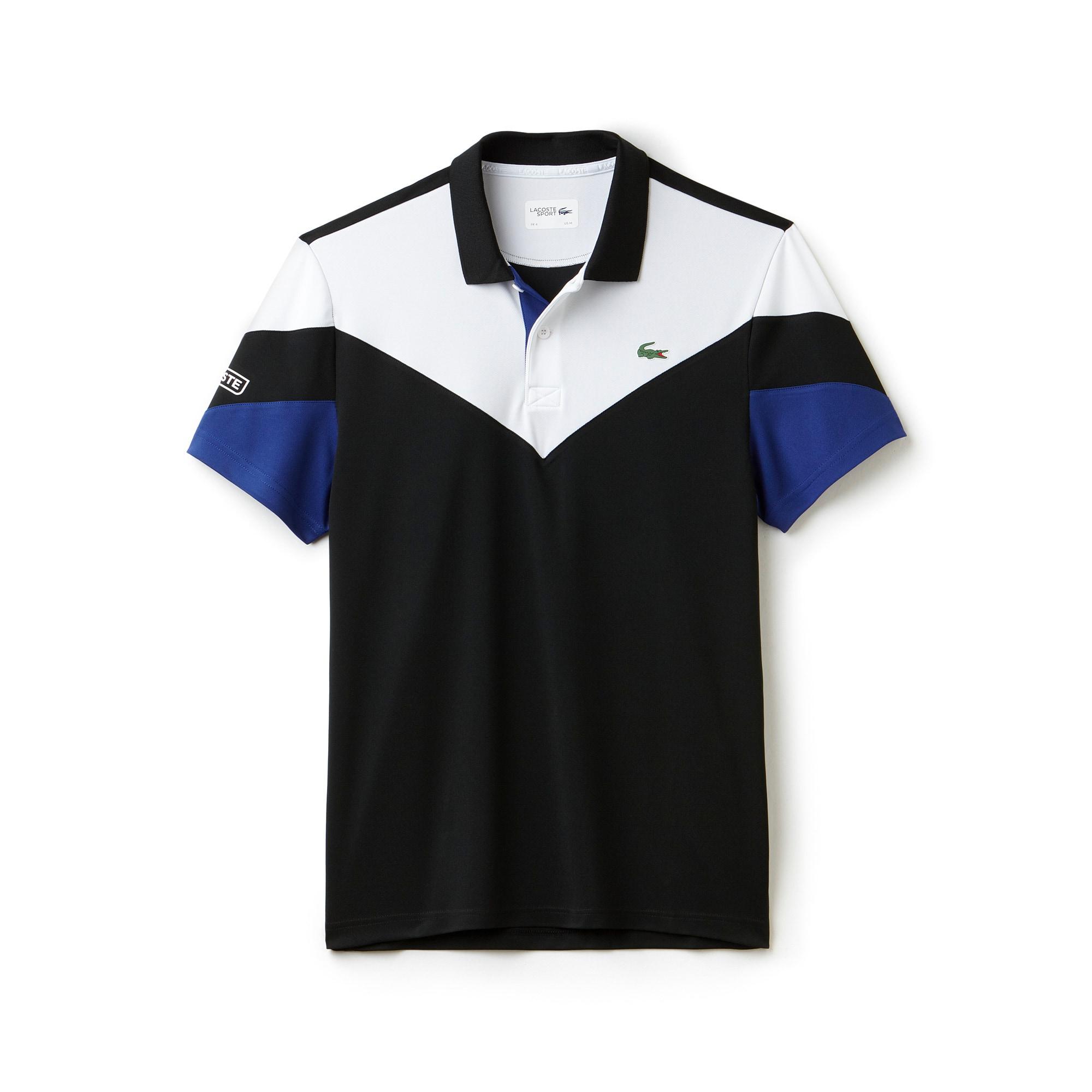 Polo Tennis Lacoste SPORT in piqué tecnico color block