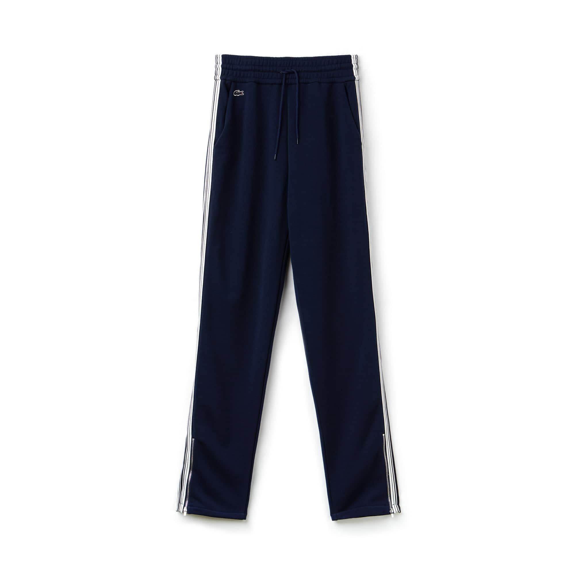 Pantaloni da jogging di stile urbano in mollettone crêpe con fasce a contrasto