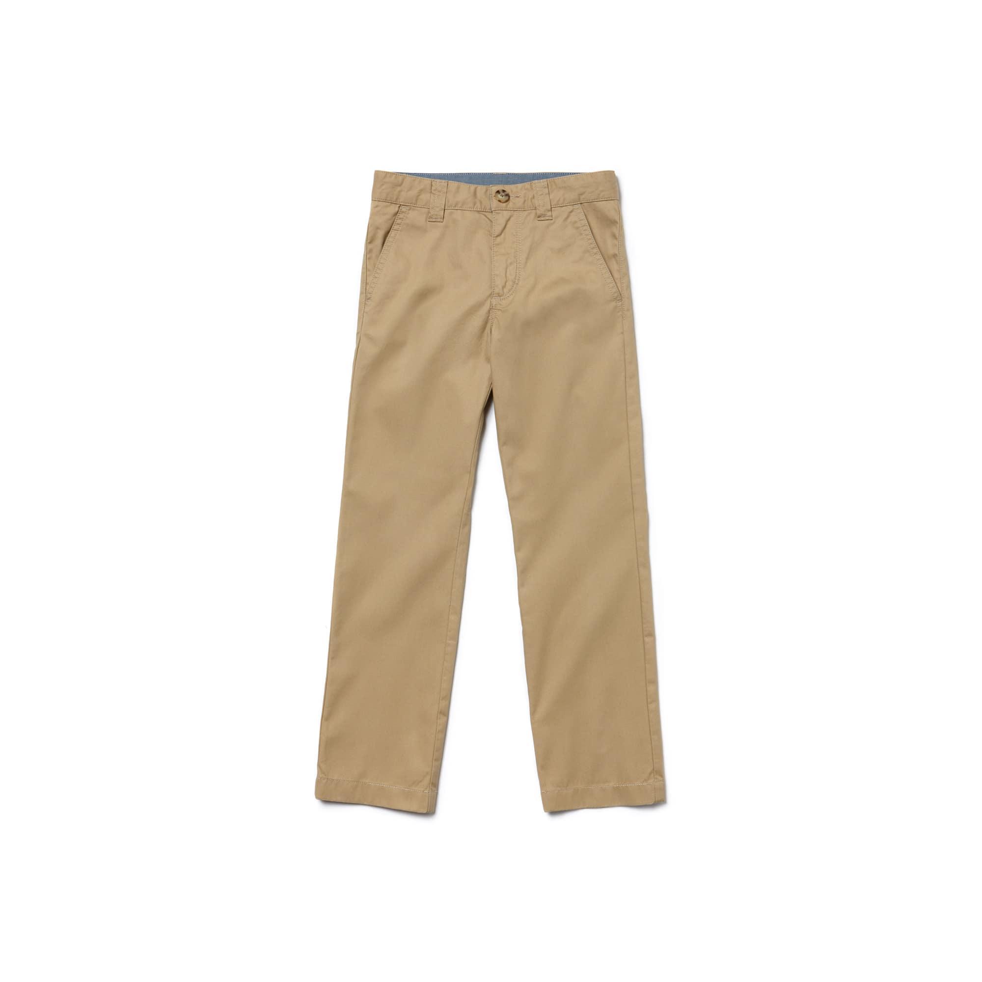 Pantaloni chino Kids in gabardine di cotone colorato