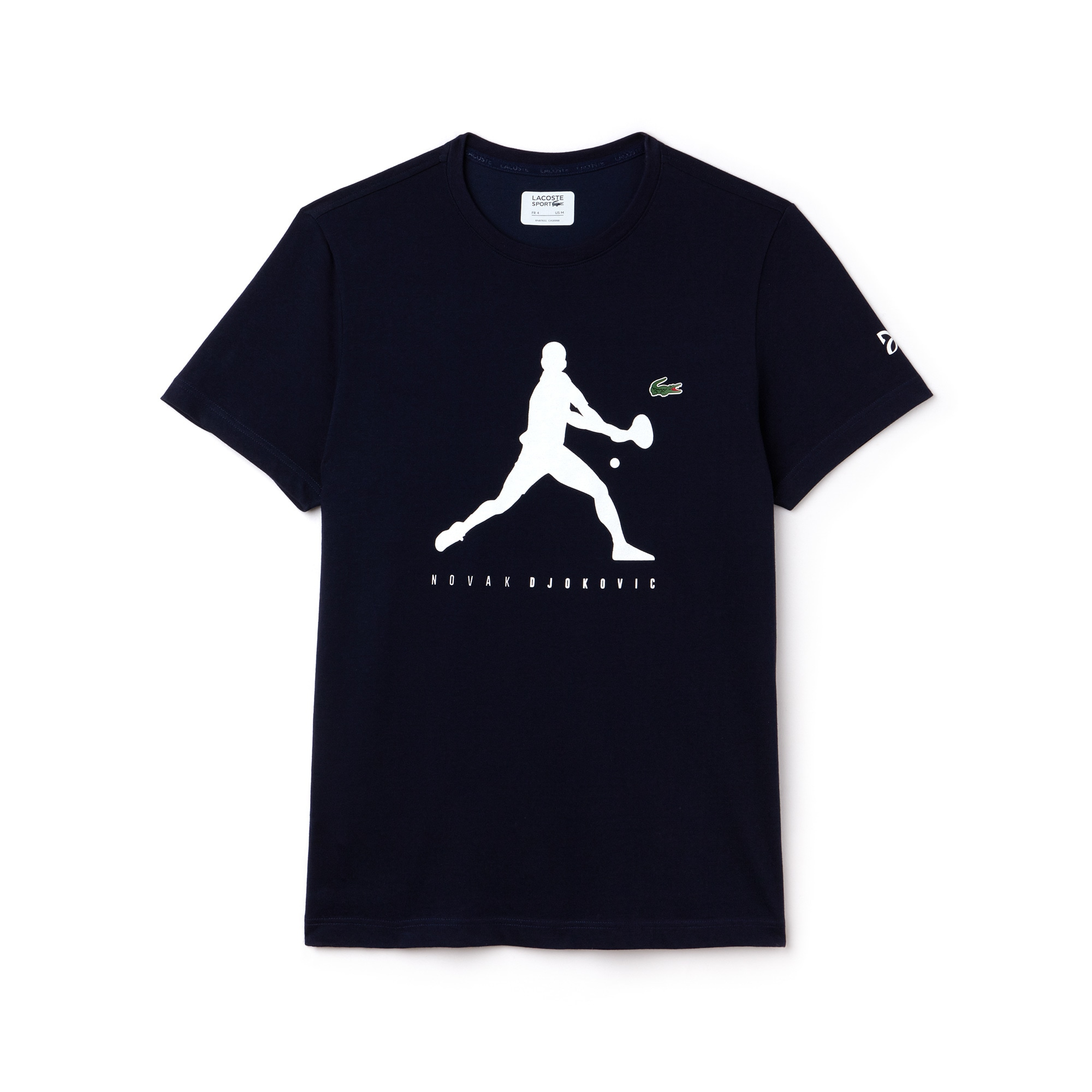 T-shirt a Girocollo In Jersey Tinta Unita Con Stampato - Collezione Support With Style