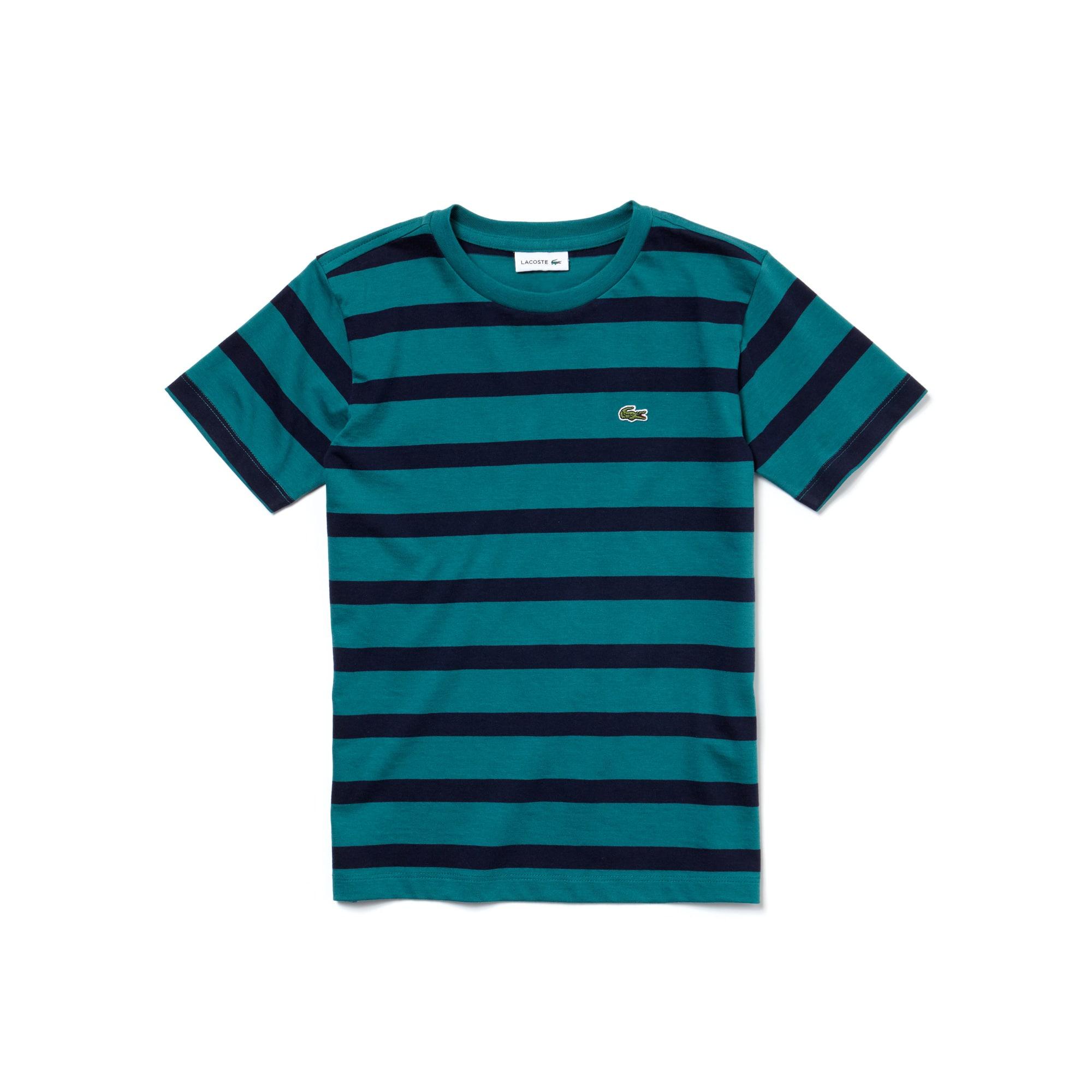 T-shirt Bambino in jersey di cotone a righe