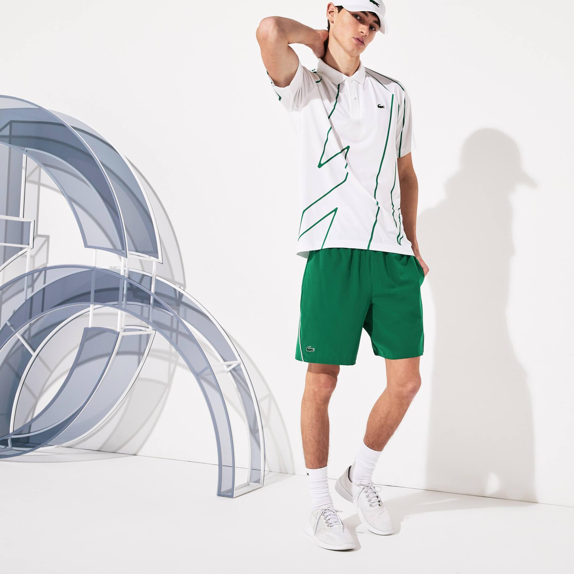 Pantaloni corti da uomo elasticizzati e traspiranti Lacoste SPORT x Novak Djokovic